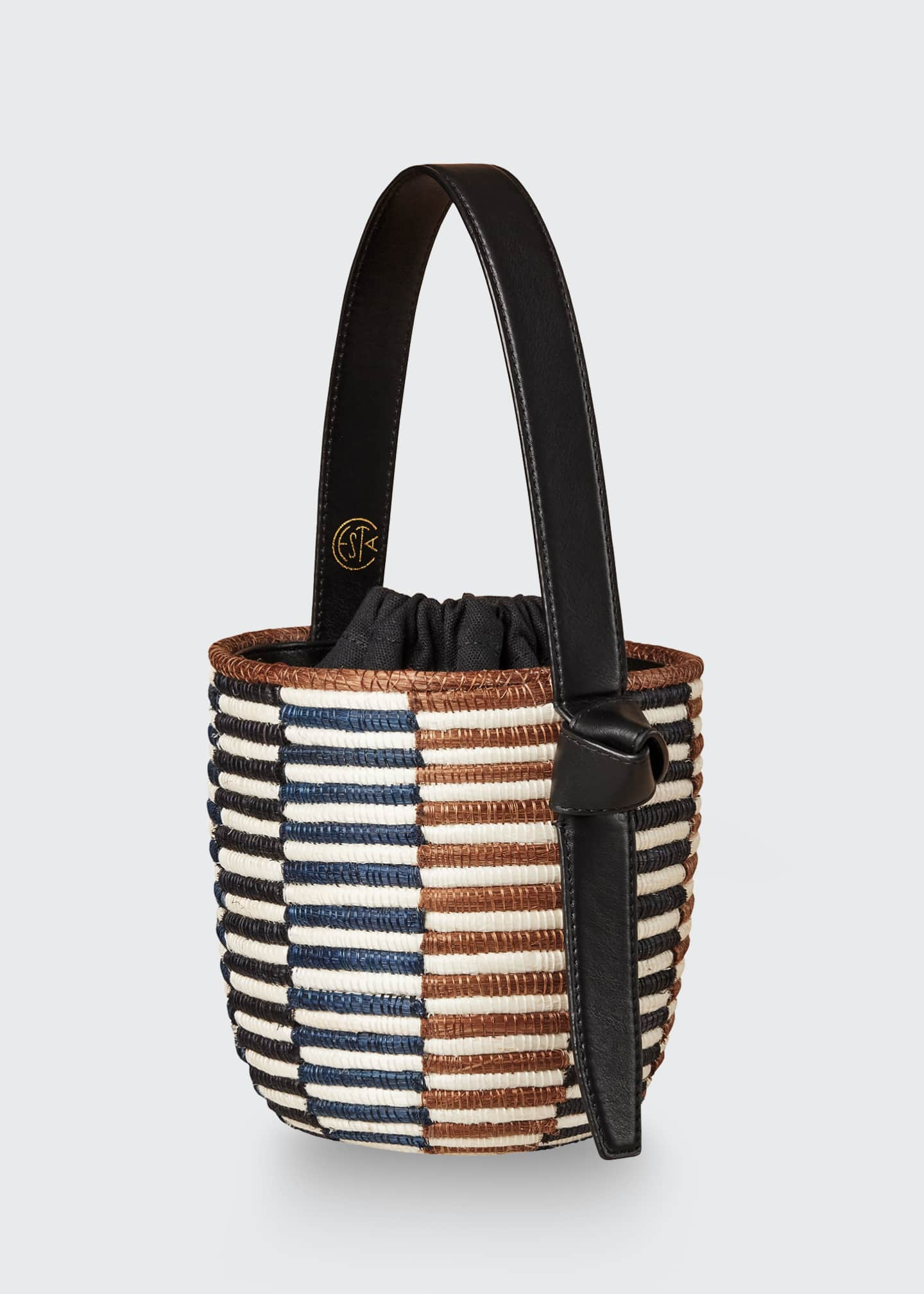 Image 3 of 4: Checkerboard Lunch Pail Bucket Bag