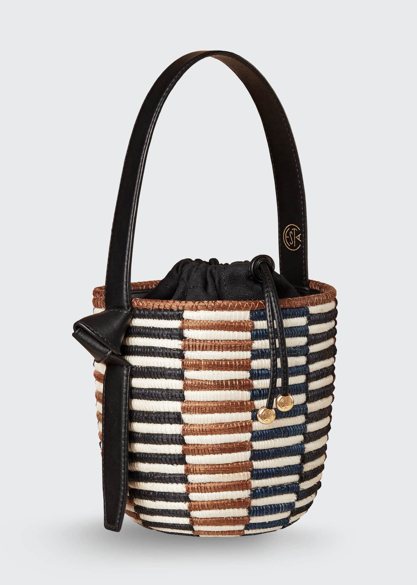Image 1 of 4: Checkerboard Lunch Pail Bucket Bag