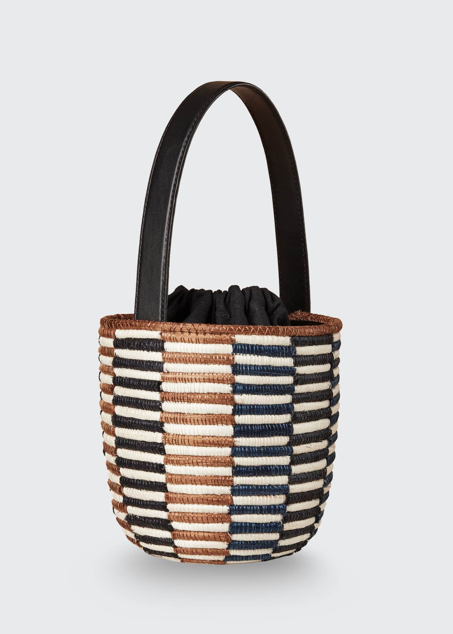 Image 4 of 4: Checkerboard Lunch Pail Bucket Bag
