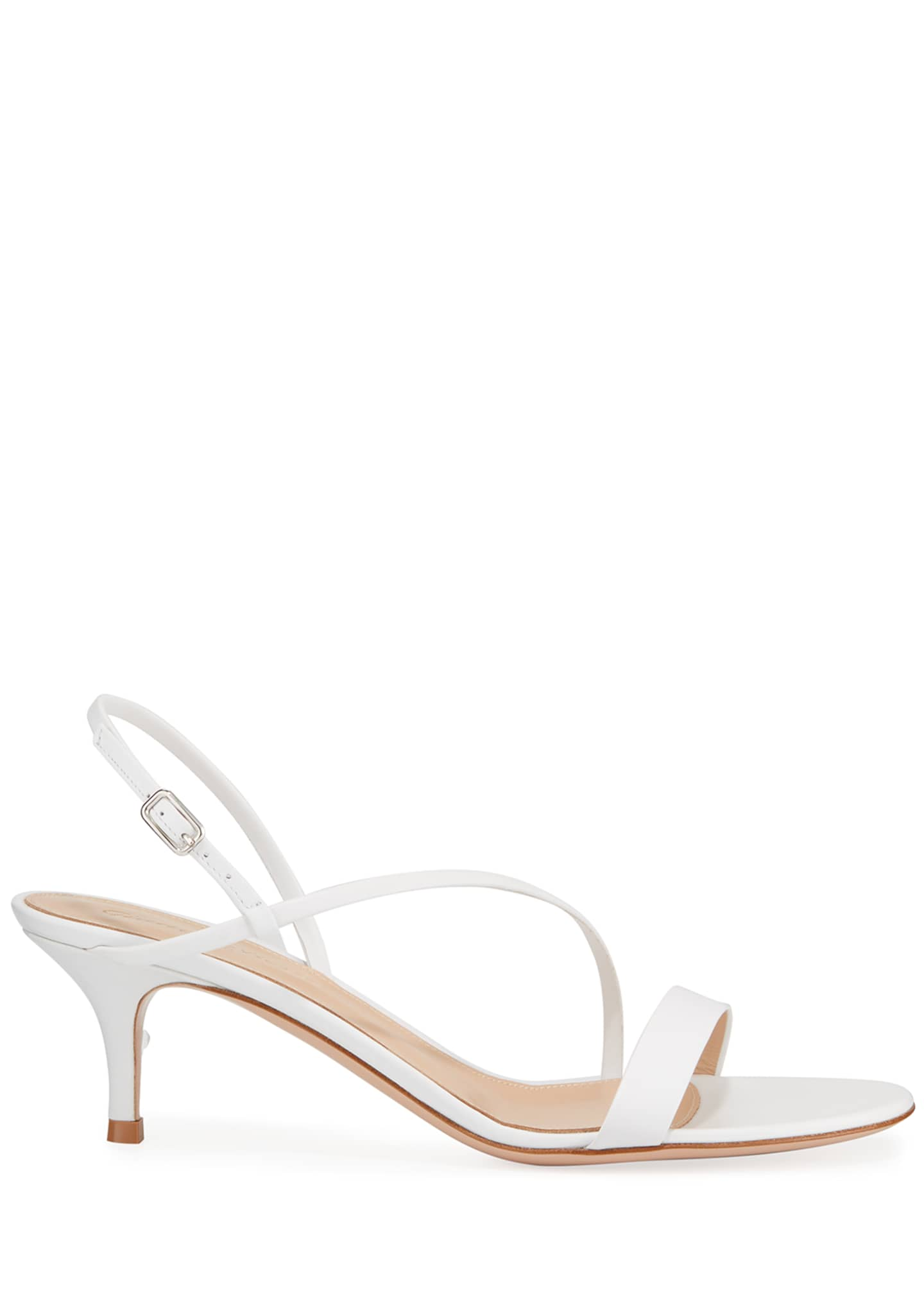 Image 2 of 3: Strappy Leather Slingback Sandals