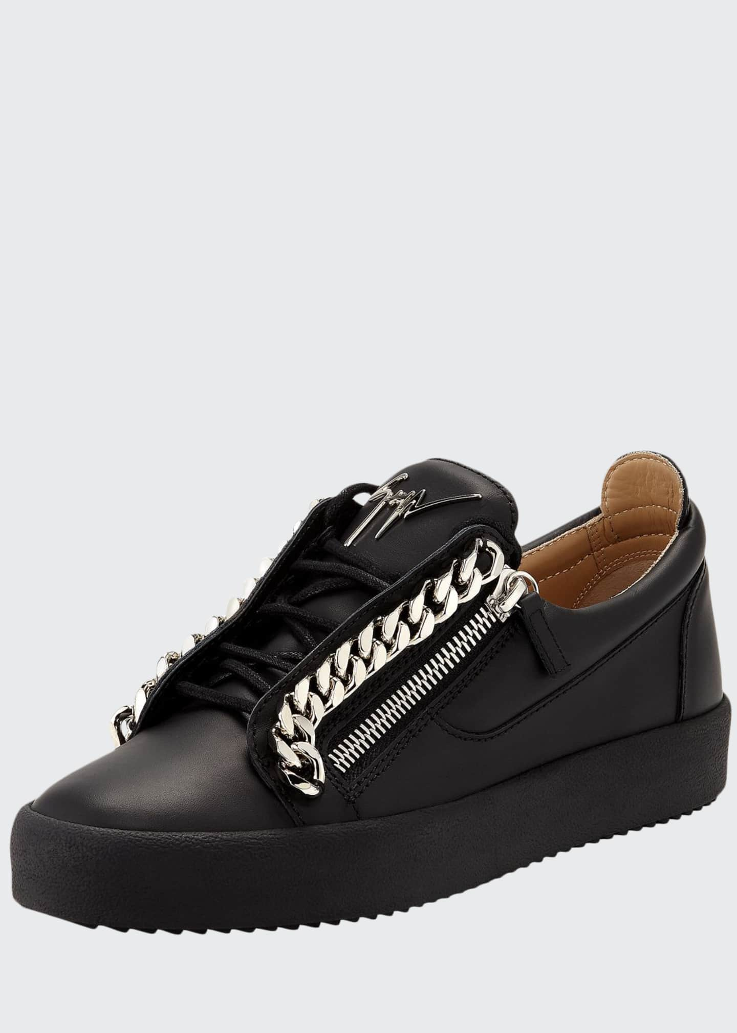 Giuseppe Zanotti Men's Curb-Chain Leather Sneakers