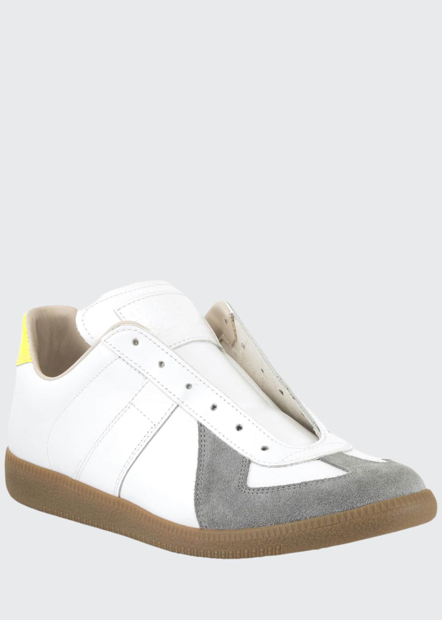 Maison Margiela Men's Replica Colorblock Leather/Suede Low-Top
