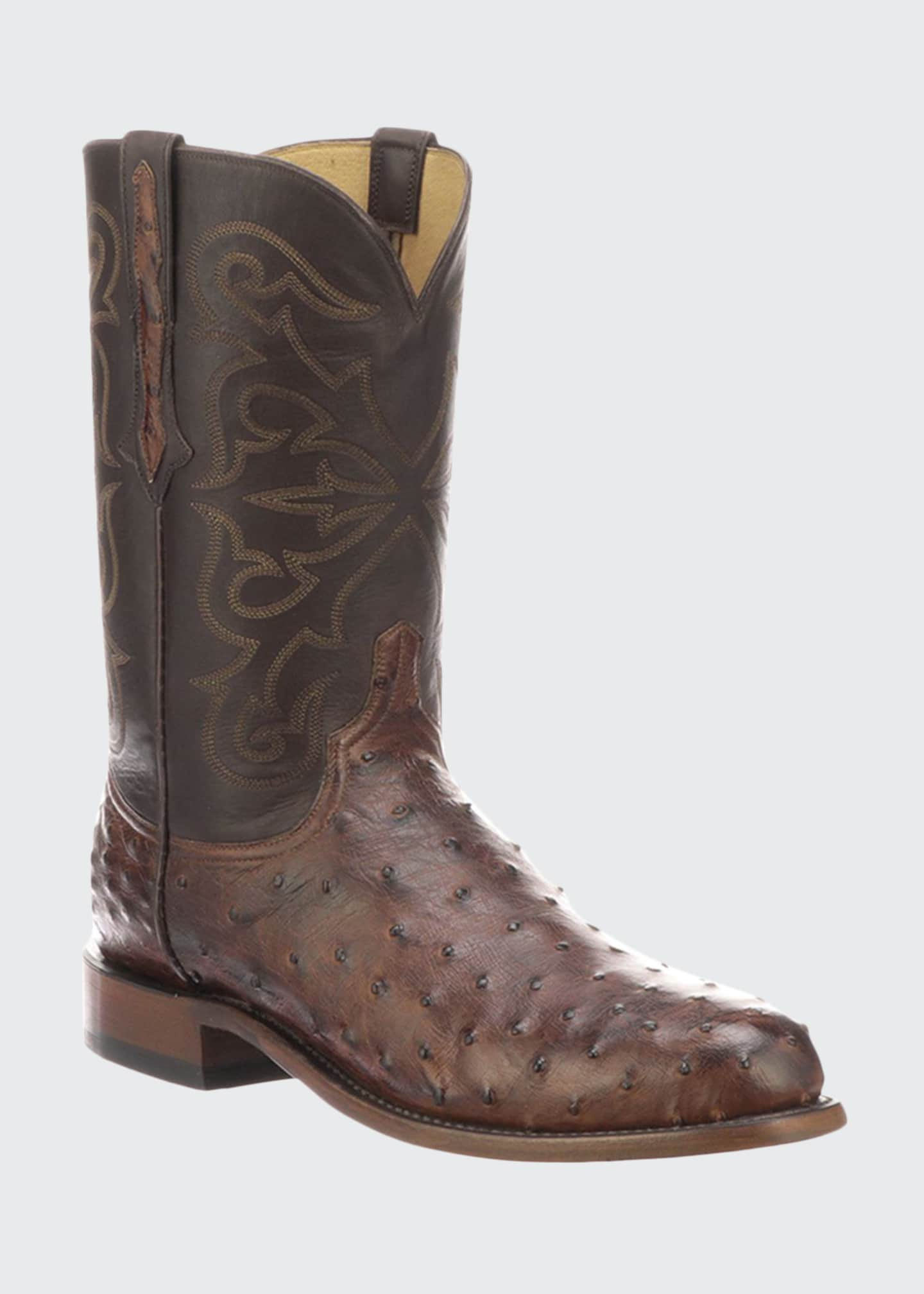 Lucchese Men's Hudson Full Quill Boots