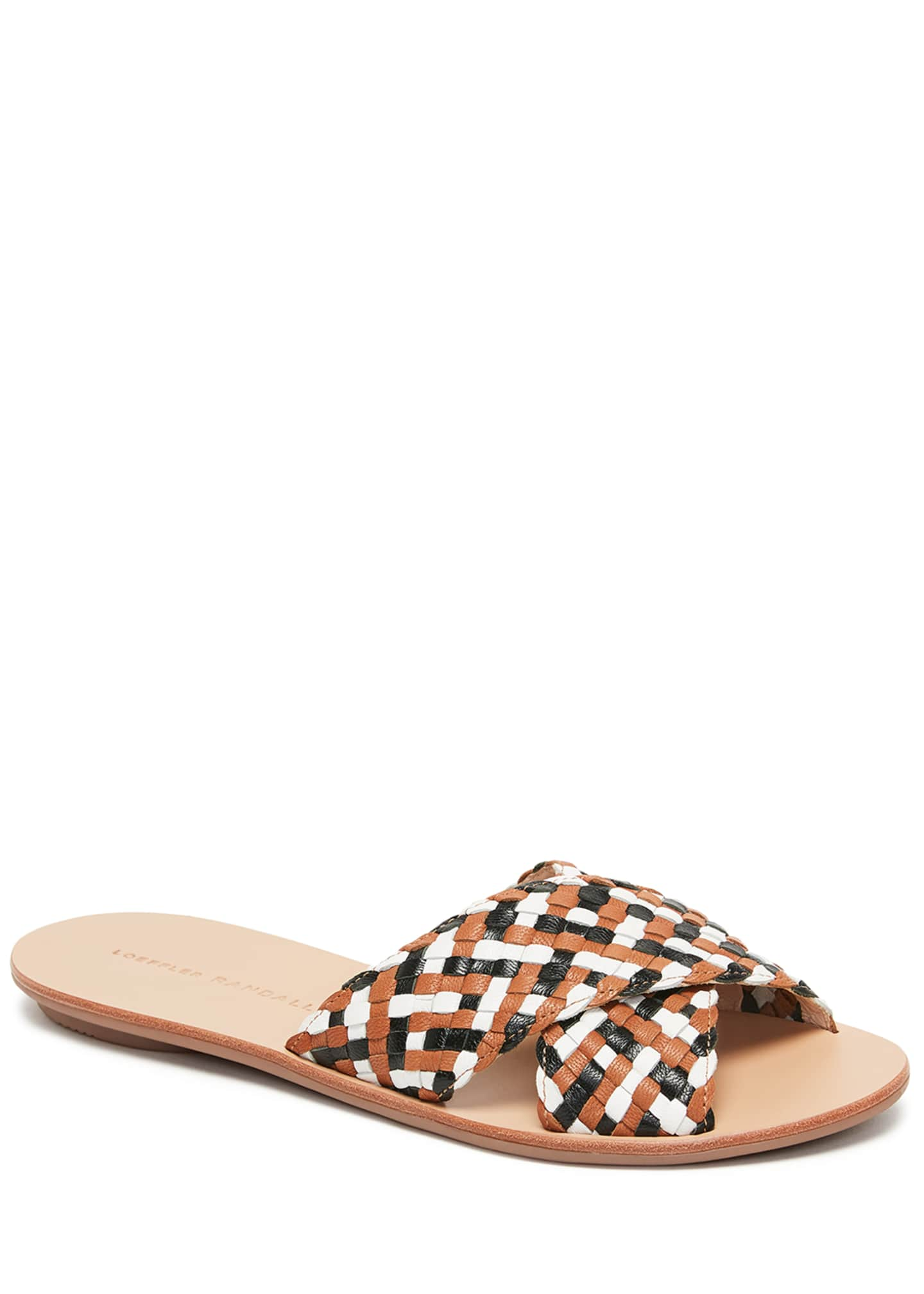 Loeffler Randall Claudie Woven Leather Slide Sandals