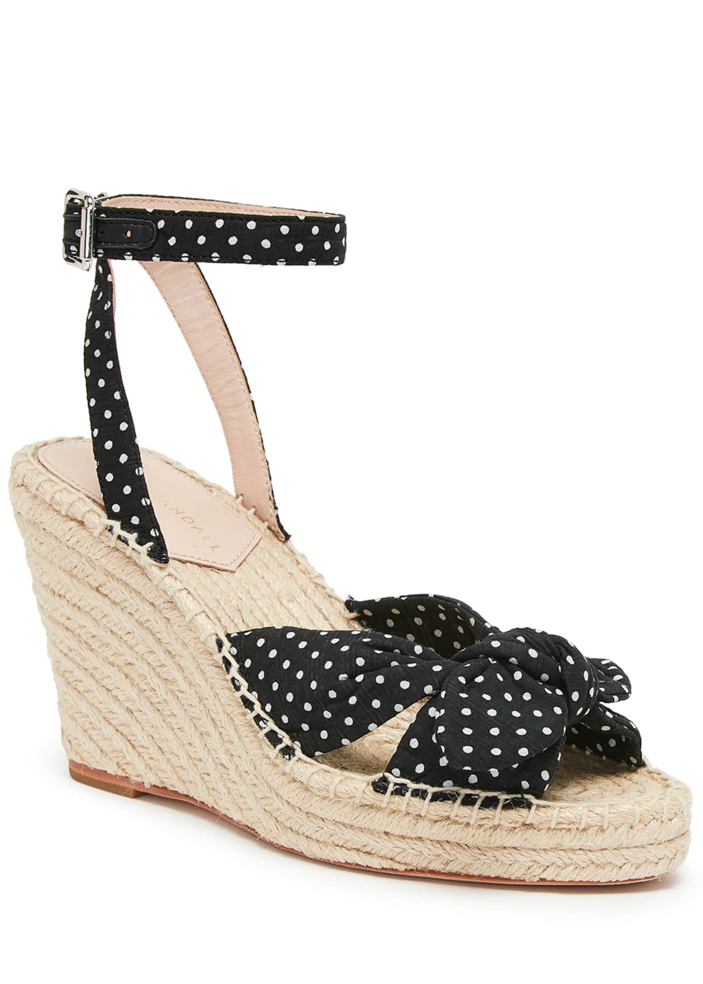 Loeffler Randall Tessa 80mm Dot Bow Wedge Espadrilles