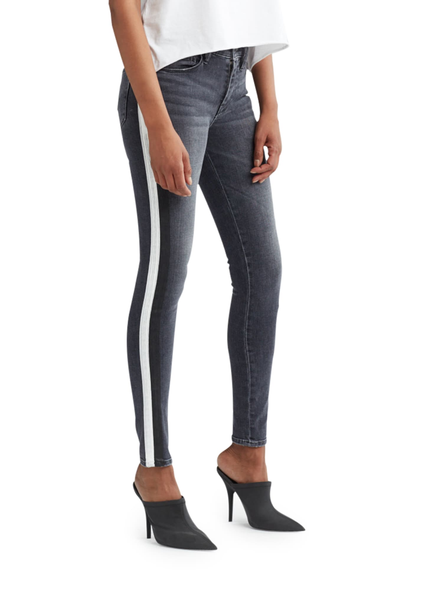 Image 2 of 4: Nico Mid-Rise Super Skinny Ankle Jeans with Side Stripes