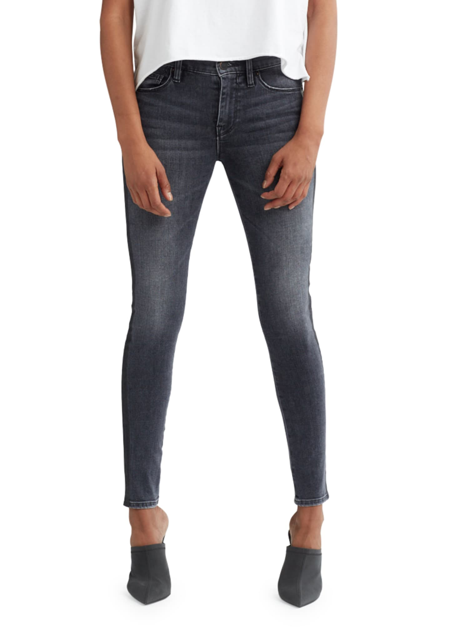 Image 1 of 4: Nico Mid-Rise Super Skinny Ankle Jeans with Side Stripes