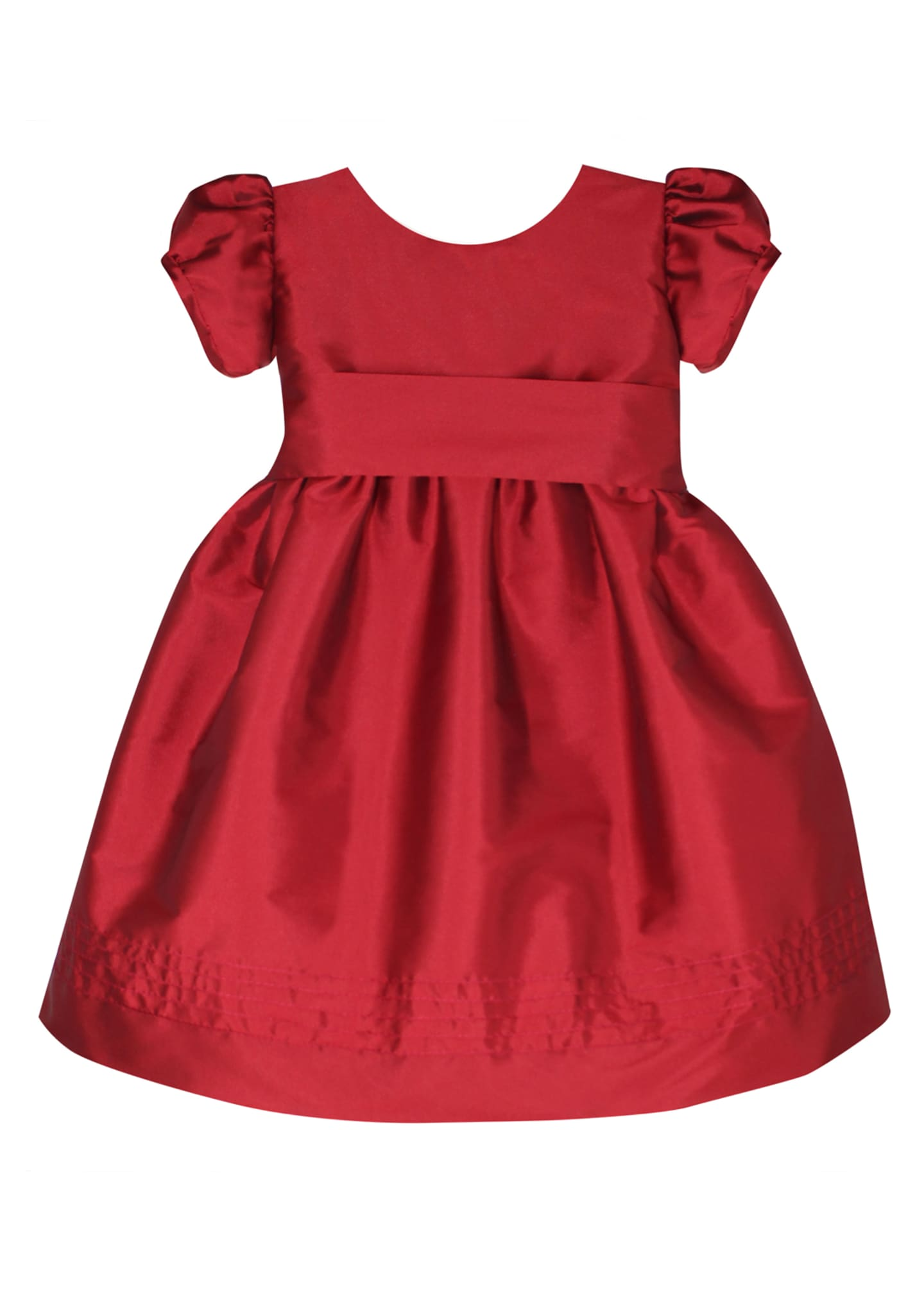 Isabel Garreton Timeless Taffeta Puffy-Sleeve Dress, Size 2-4T