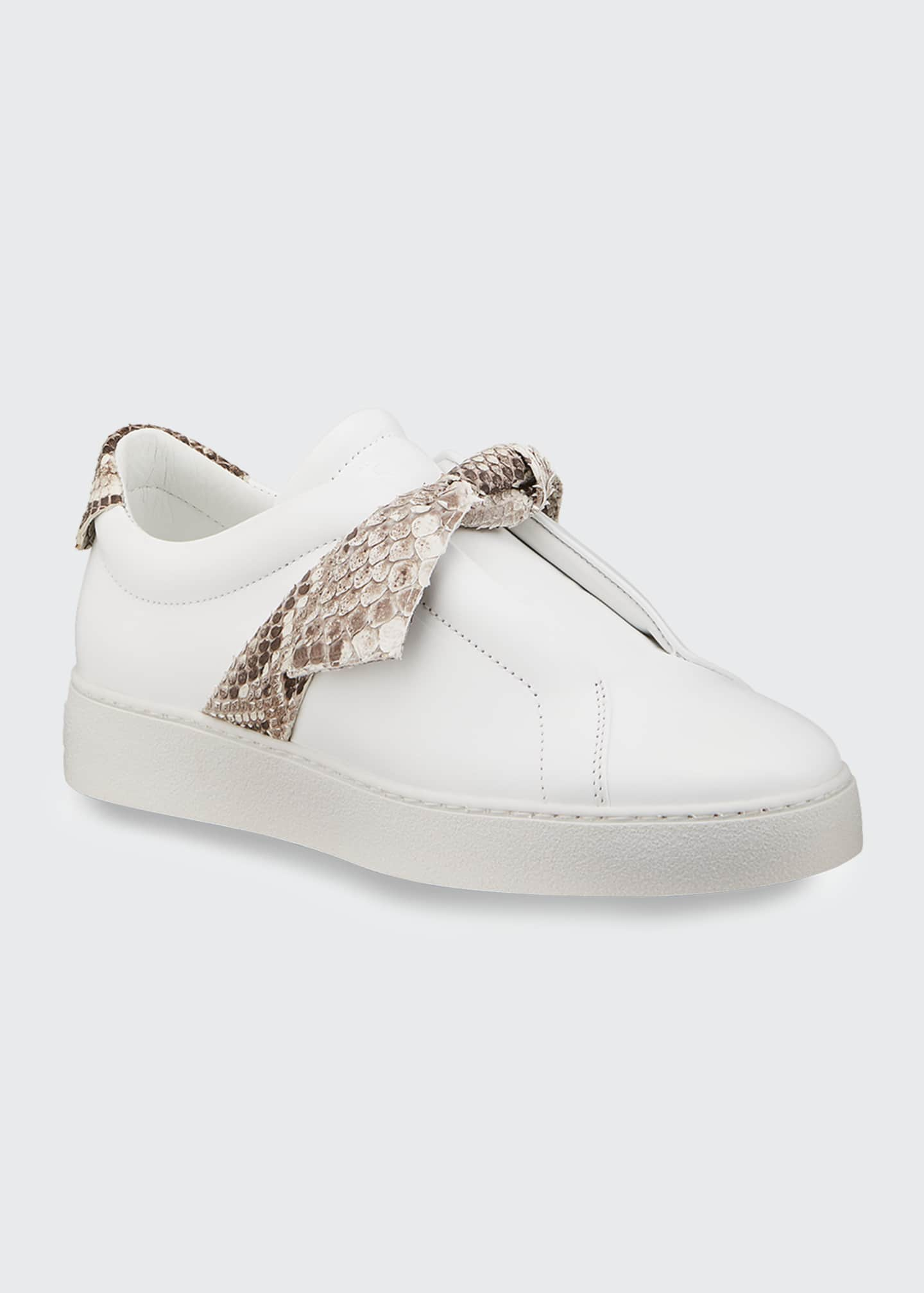 Image 2 of 4: Jungle Laceless Python Bow Sneakers