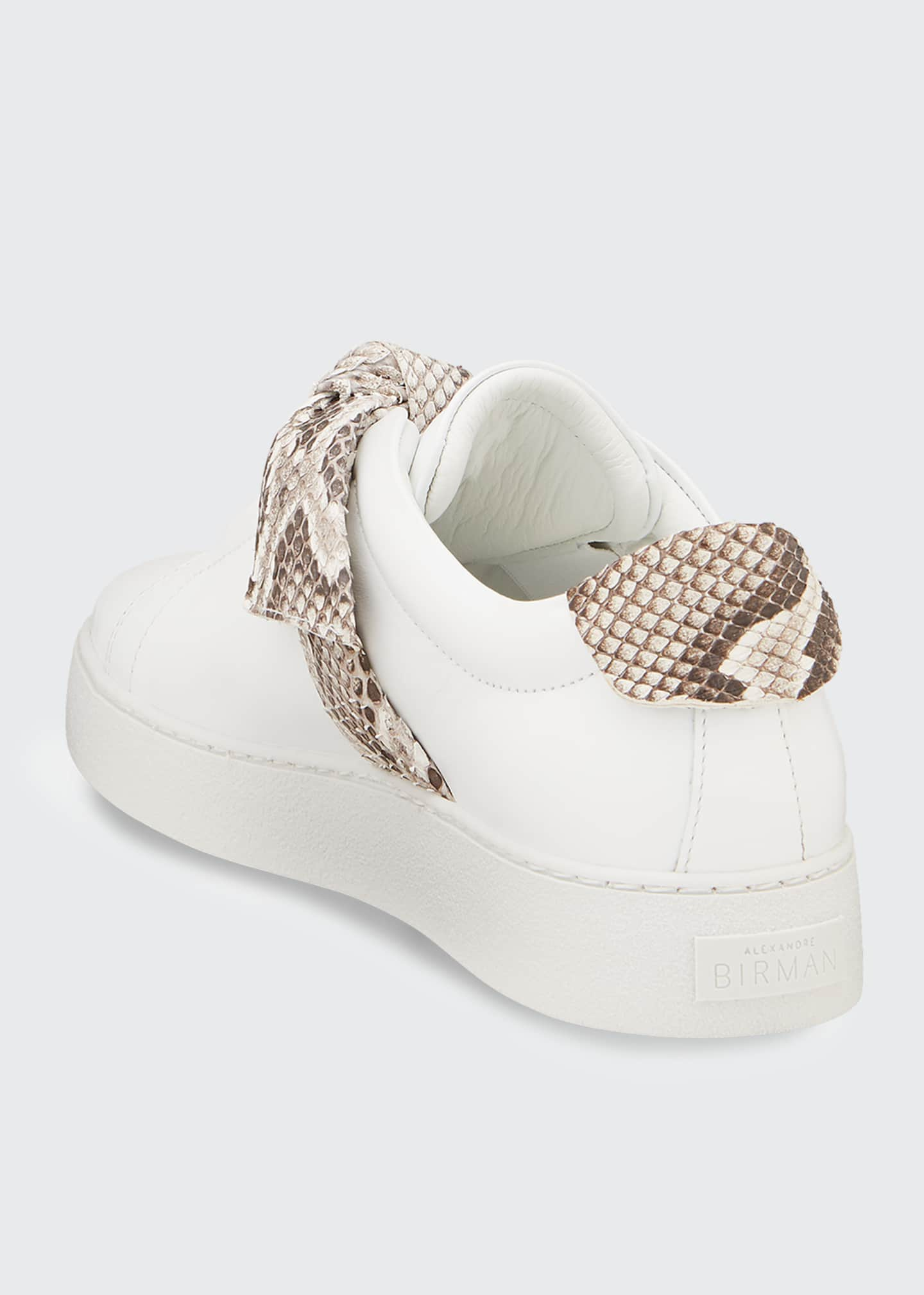 Image 3 of 4: Jungle Laceless Python Bow Sneakers