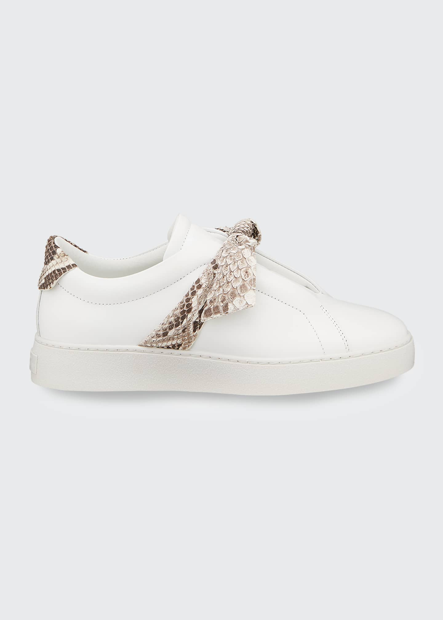 Image 1 of 4: Jungle Laceless Python Bow Sneakers