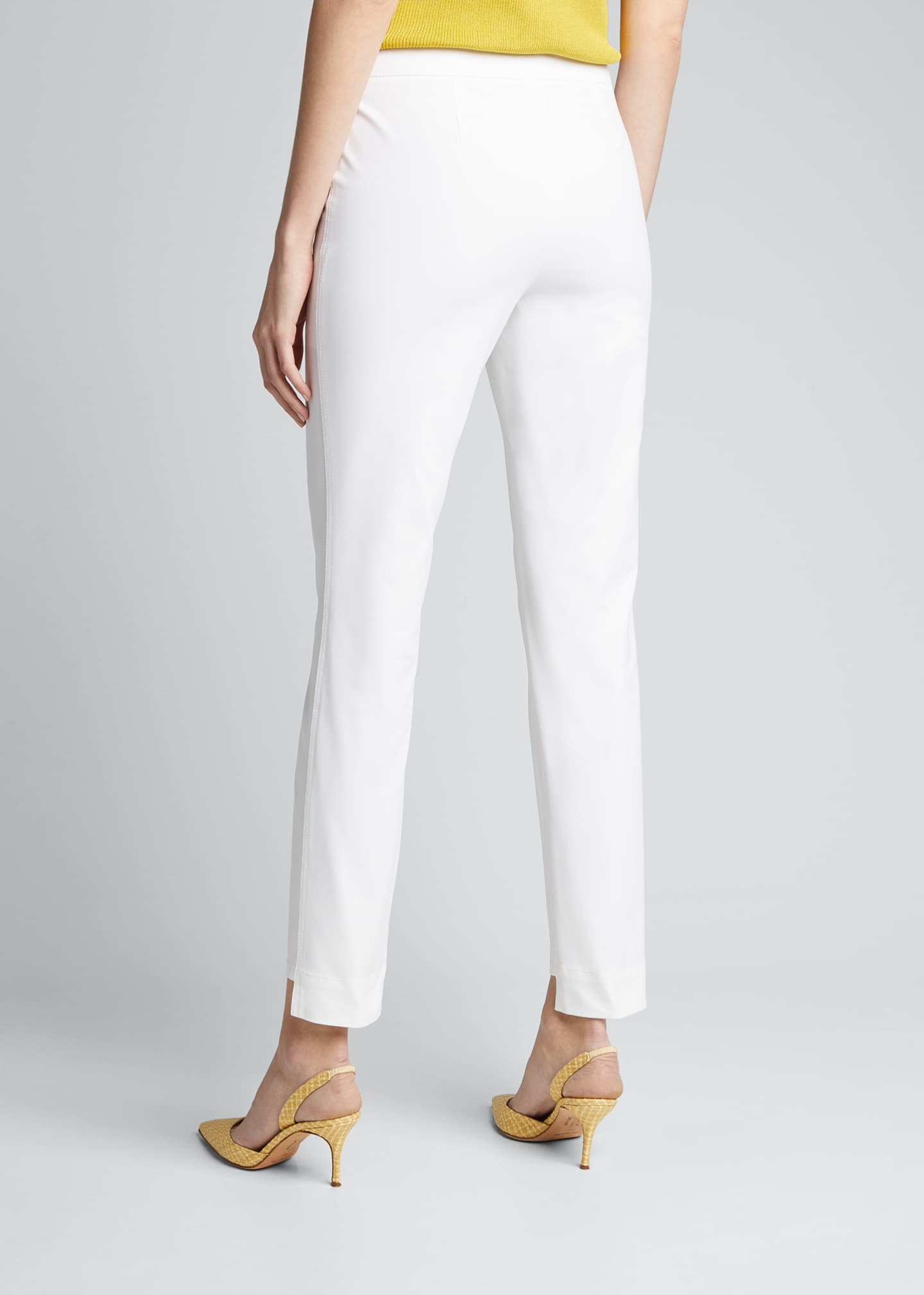 Image 2 of 5: Manhattan Fundamental Bi-Stretch Slim Pants w/ Step Hem