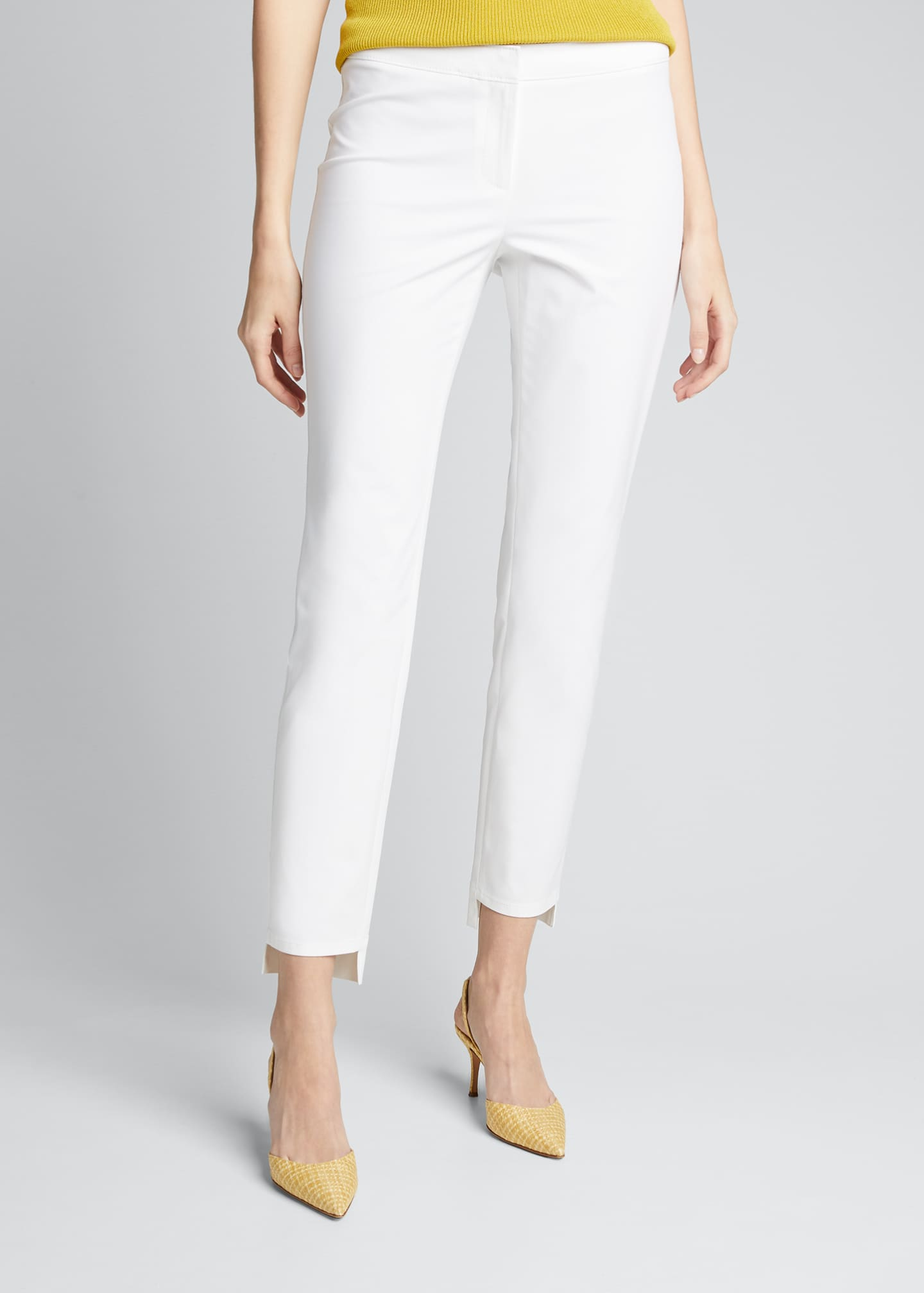 Image 3 of 5: Manhattan Fundamental Bi-Stretch Slim Pants w/ Step Hem