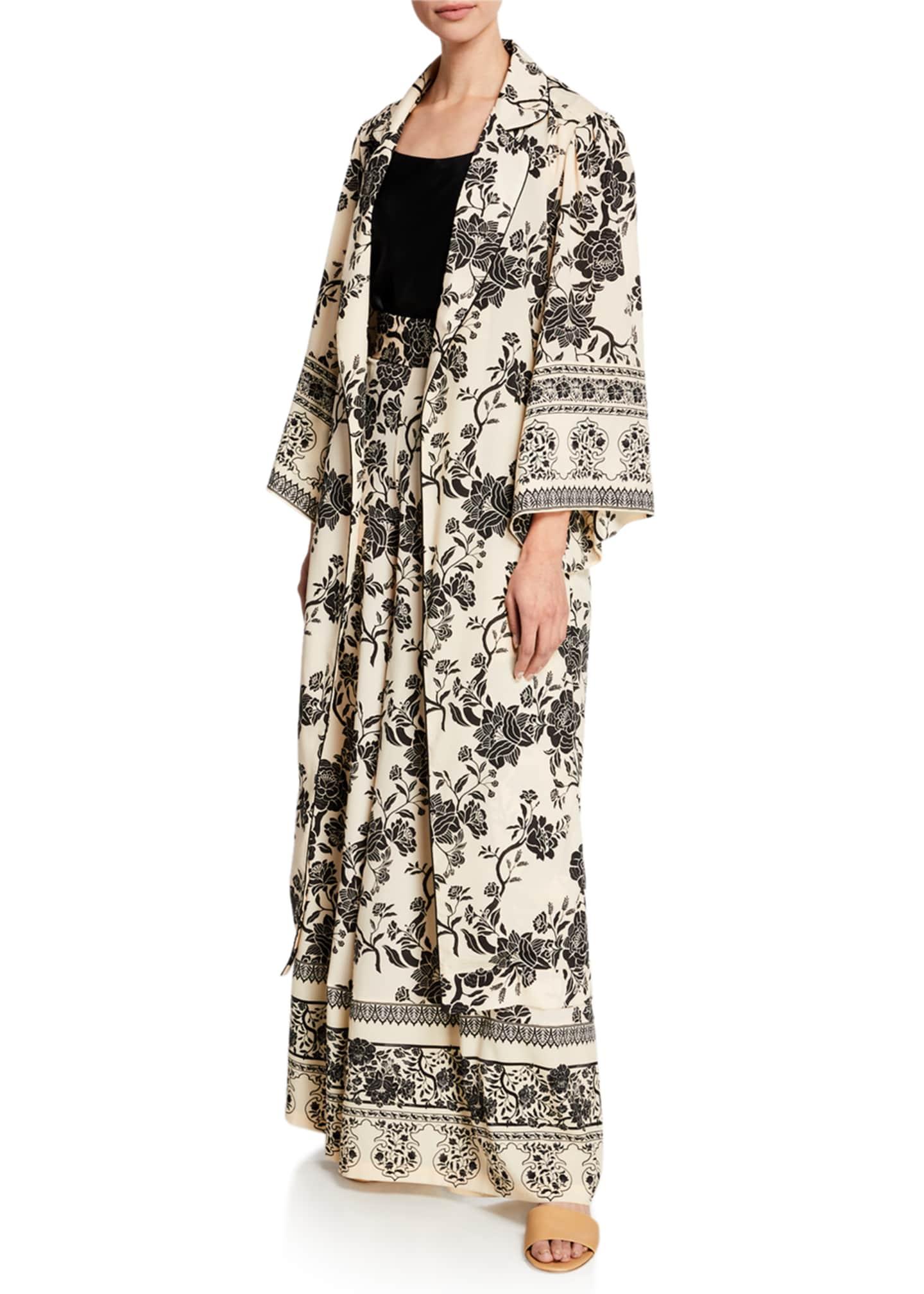 Johanna Ortiz Floral Print Long-Sleeve Kimono Top