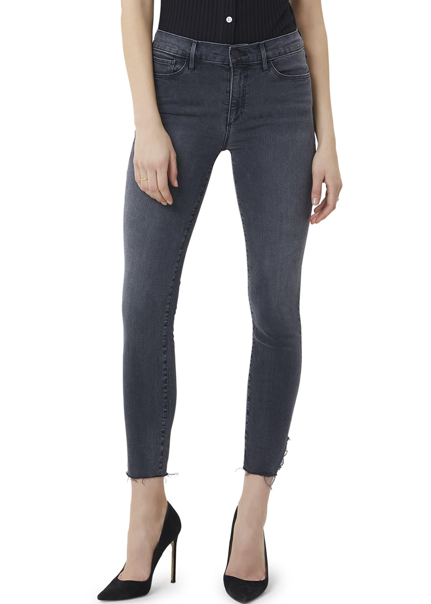 3x1 Mid-Rise Crop Skinny Jeans with Raw Hem