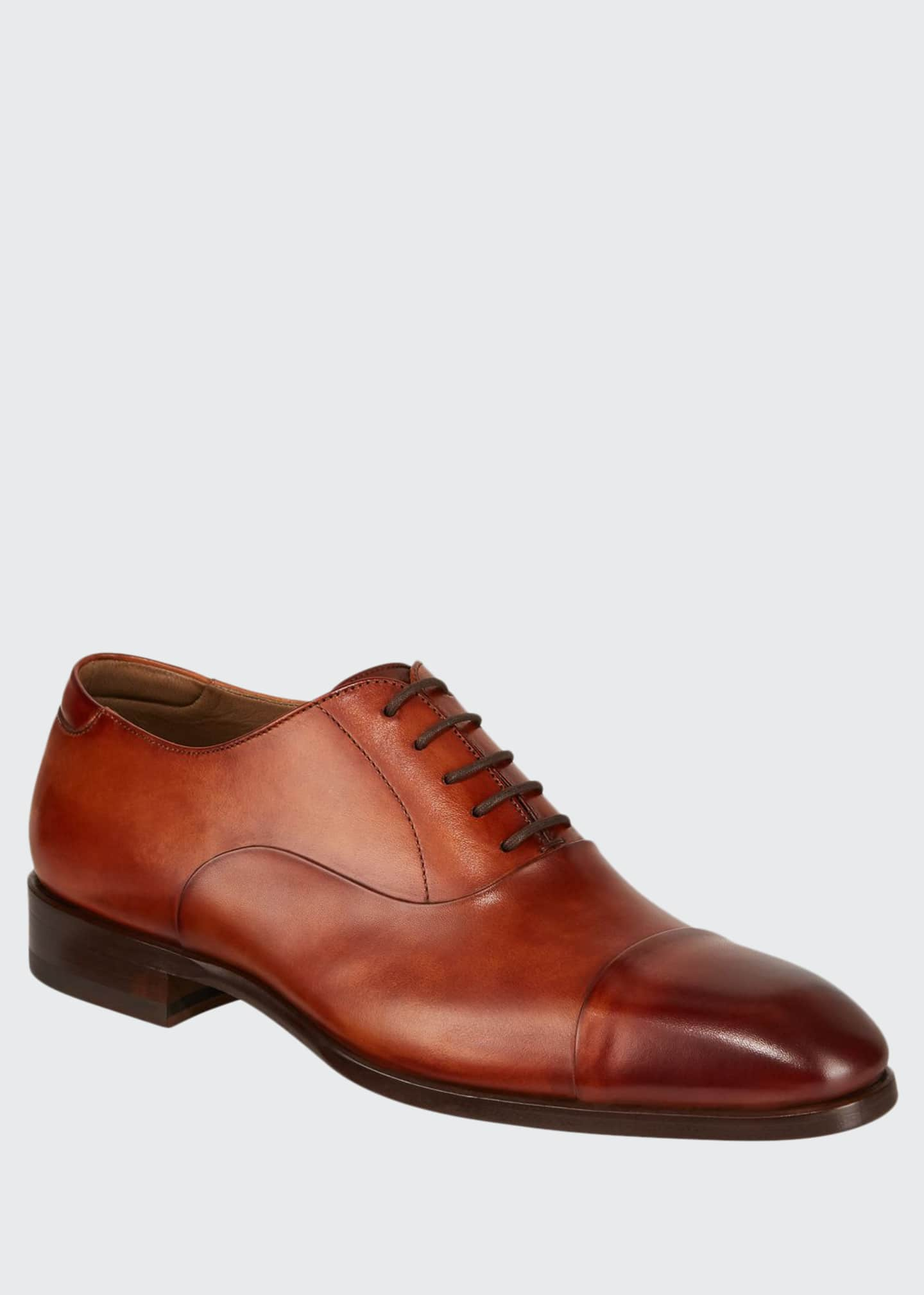 Magnanni for Neiman Marcus Men's Boltilux Leather Oxfords