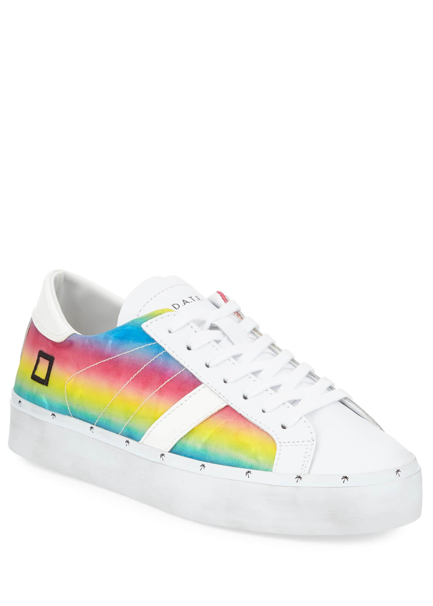 D.A.T.E. Hill Double Rainbow Sneakers