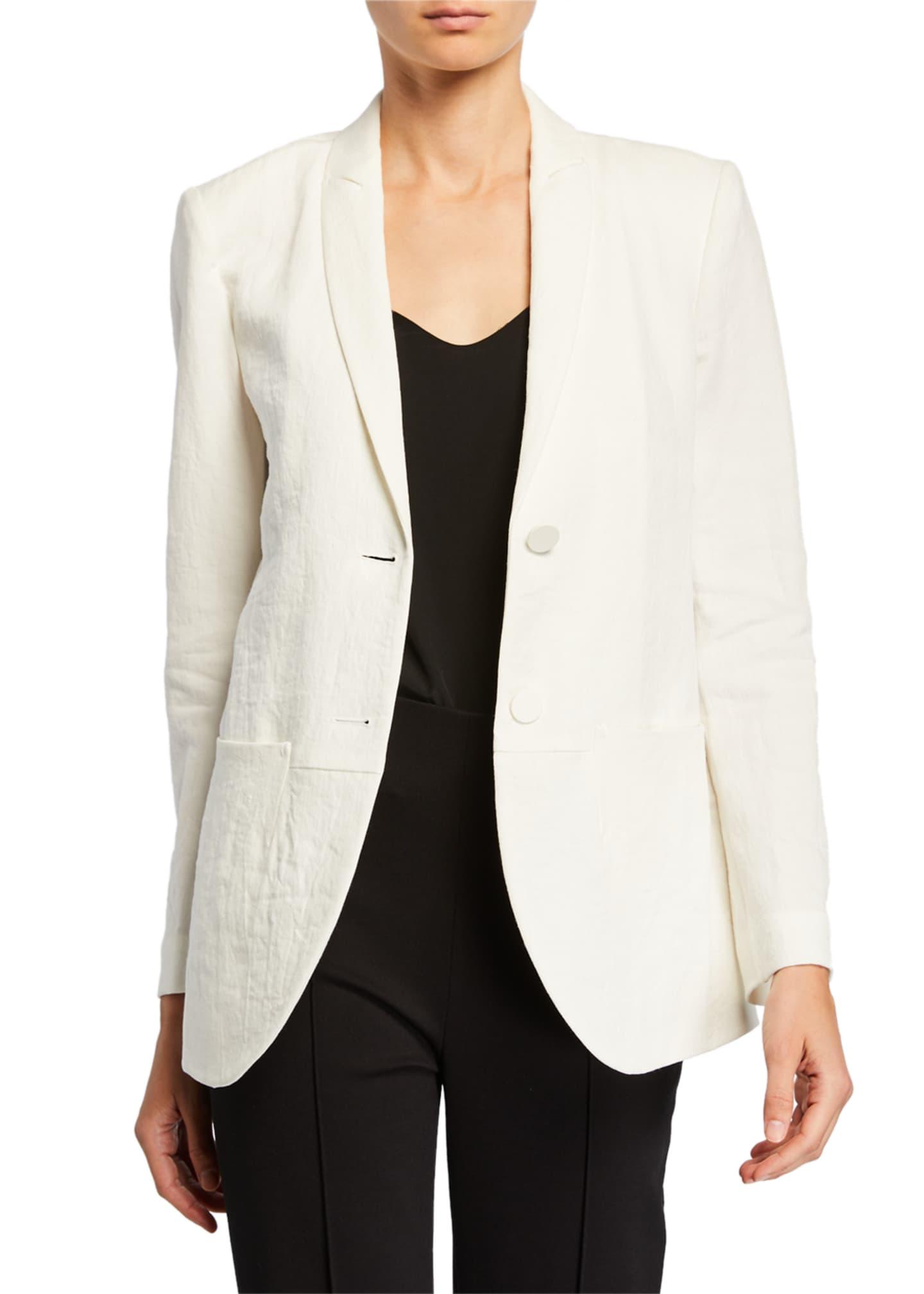 Giorgio Armani Linen & Flax Easy Two-Button Jacket