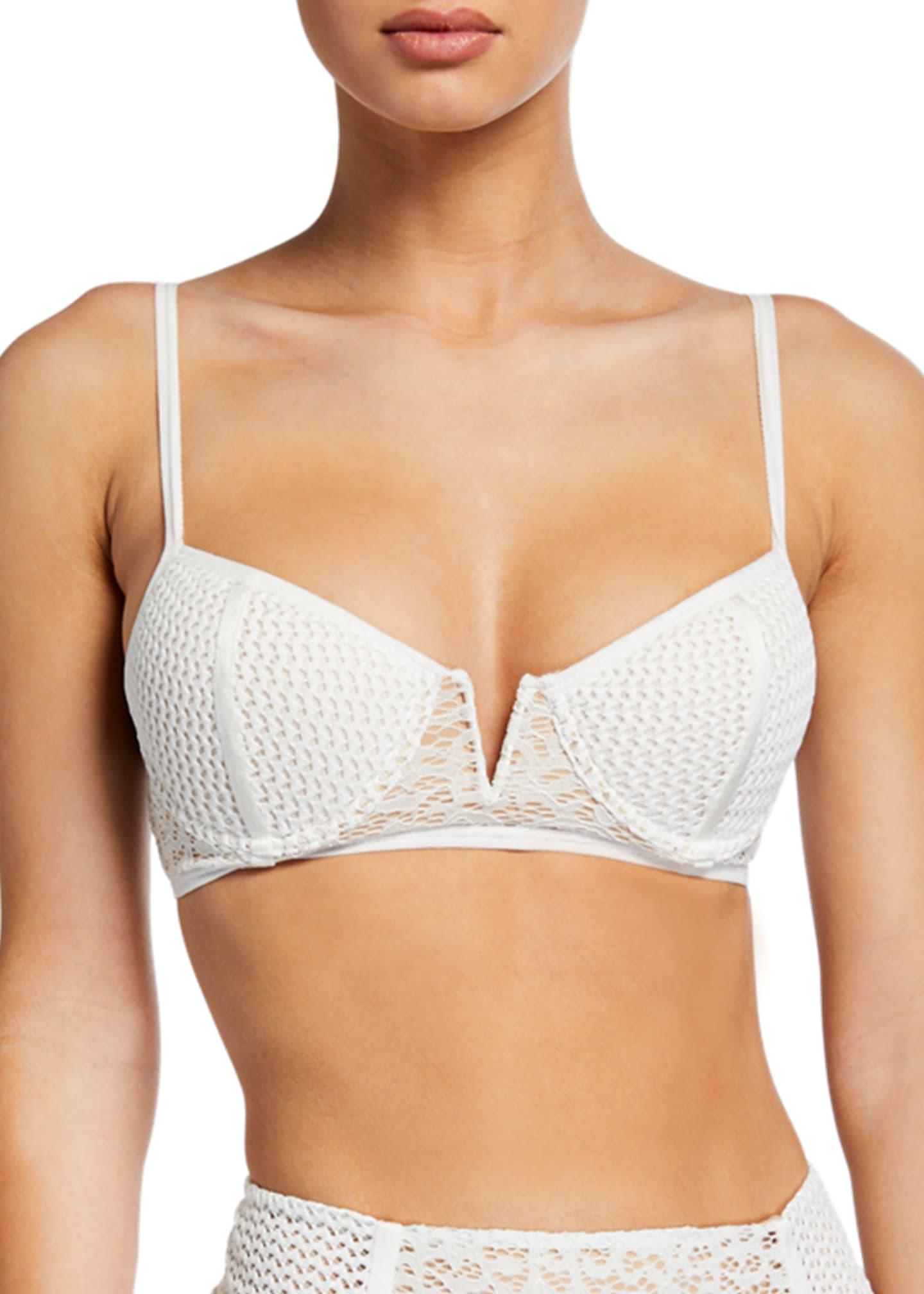 Jonathan Simkhai Lace Combo Bikini Top