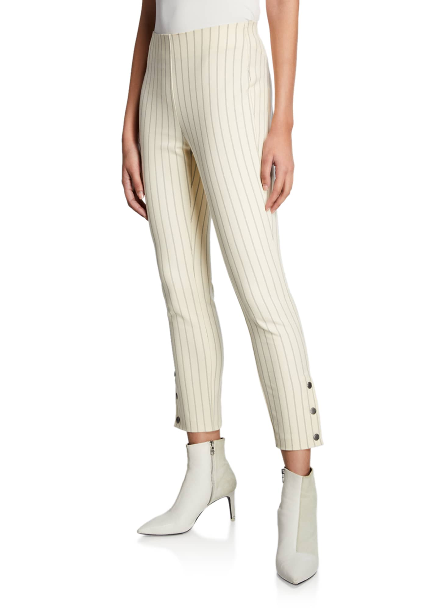 Rag & Bone Simone Cropped Side-Snap Pants