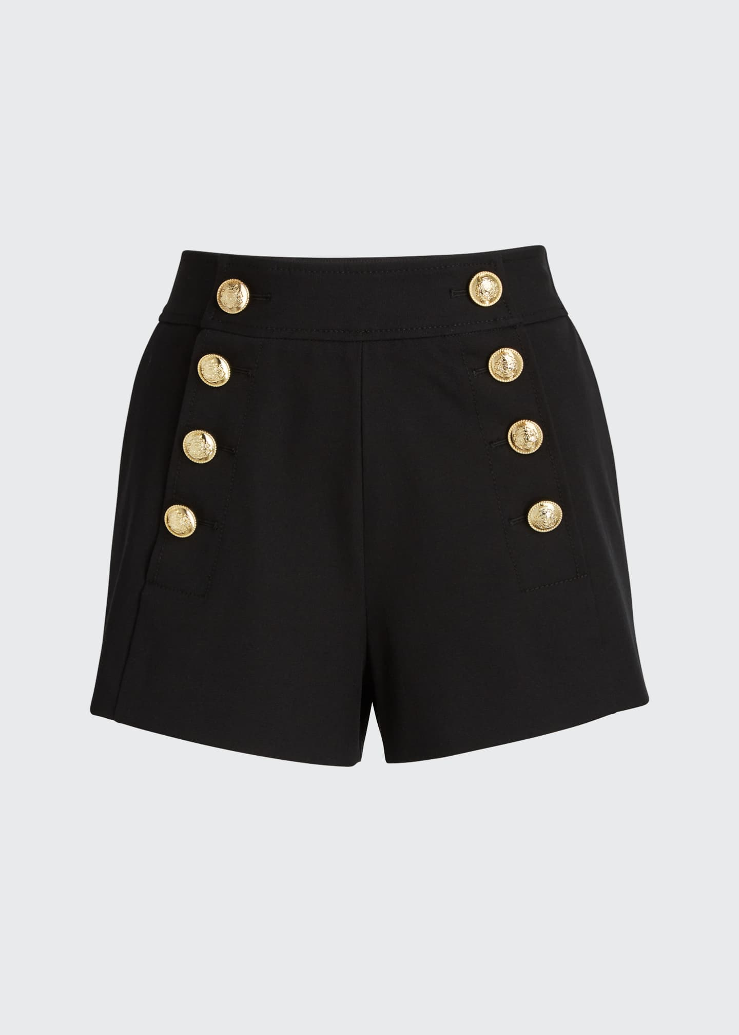 Image 5 of 5: Sailor Shorts with Button Details