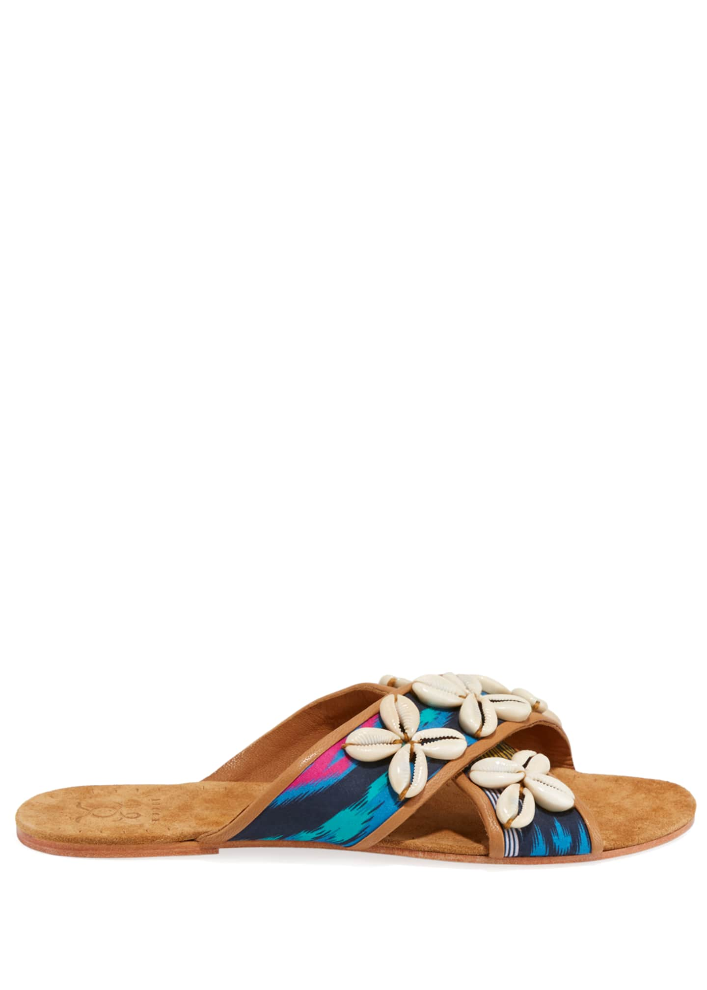 Image 2 of 3: Nilu Cowrie Shell Flat Sandals