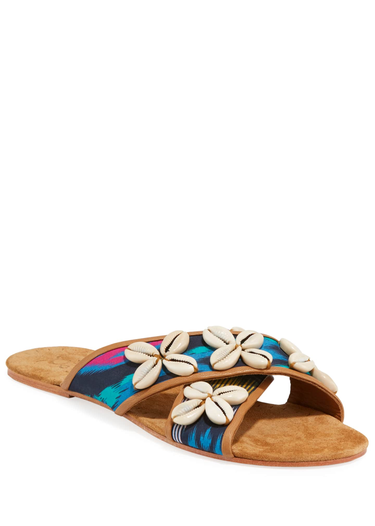 Figue Nilu Cowrie Shell Flat Sandals