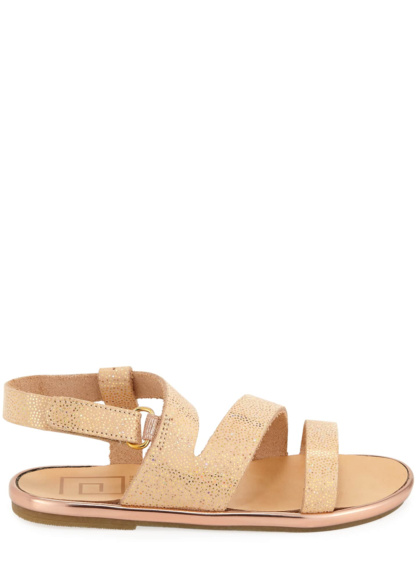 Image 2 of 3: Metallic Leather Sandal, Toddler