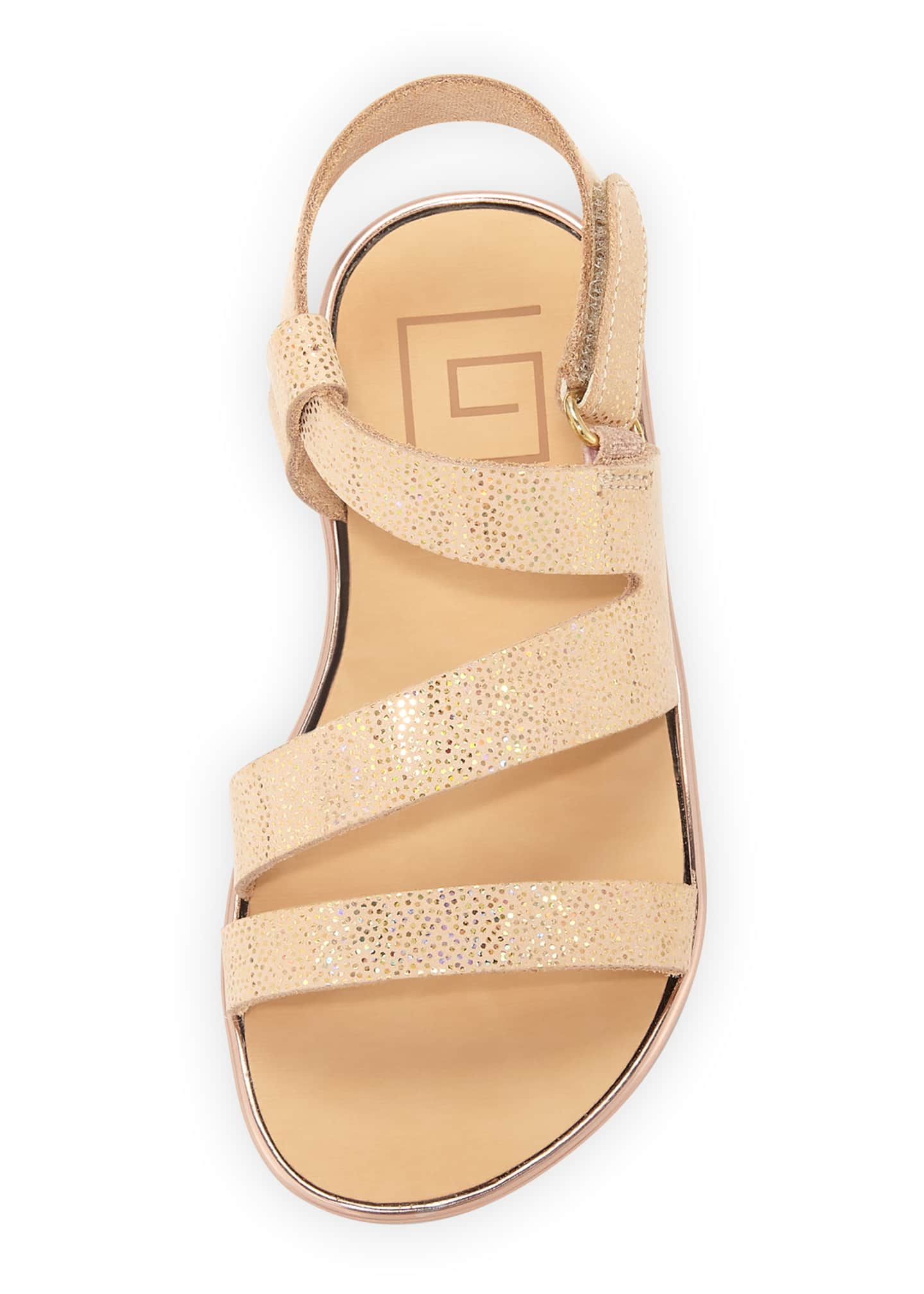 Image 3 of 3: Metallic Leather Sandal, Toddler
