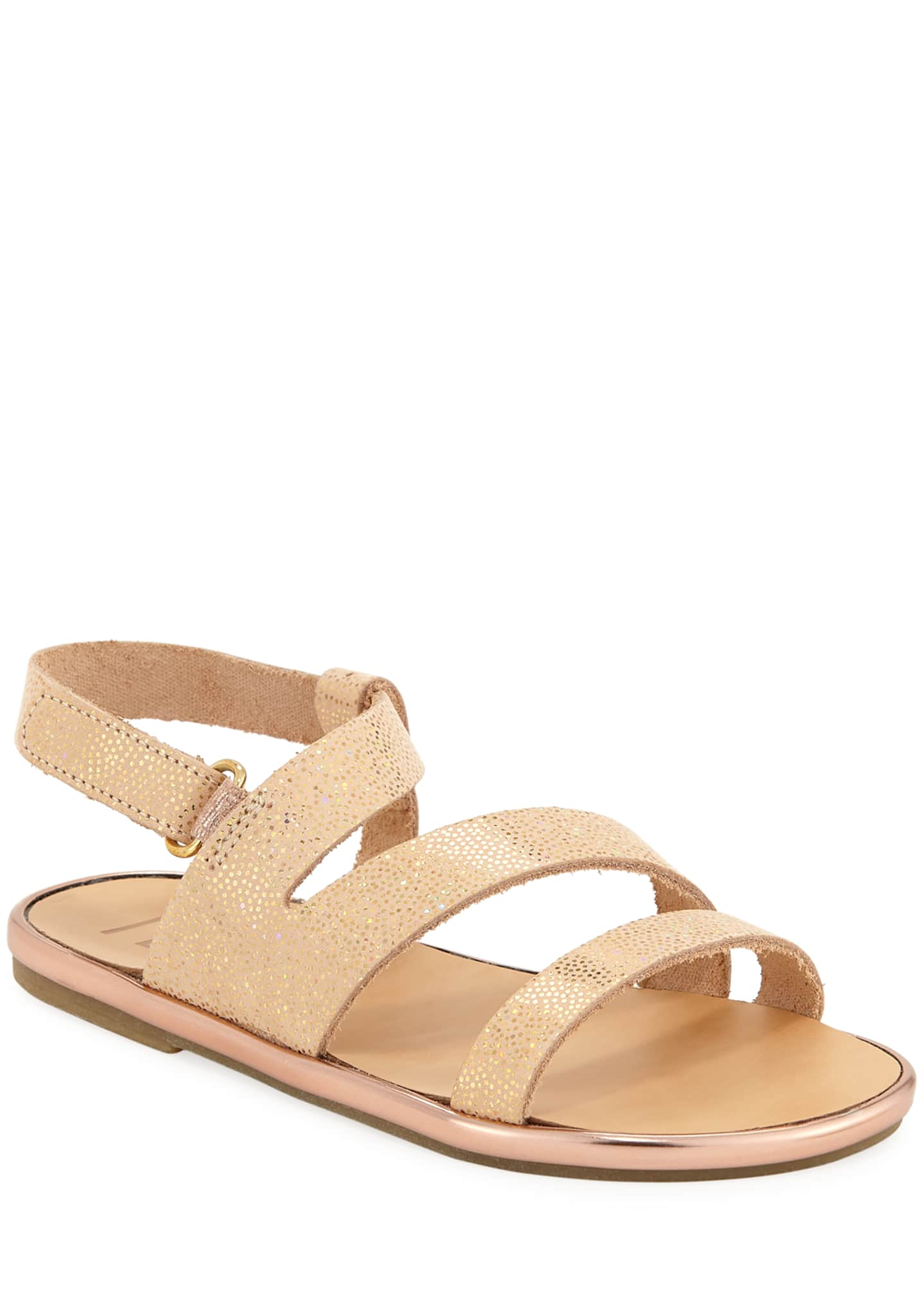 Metallic Leather Sandal, Toddler