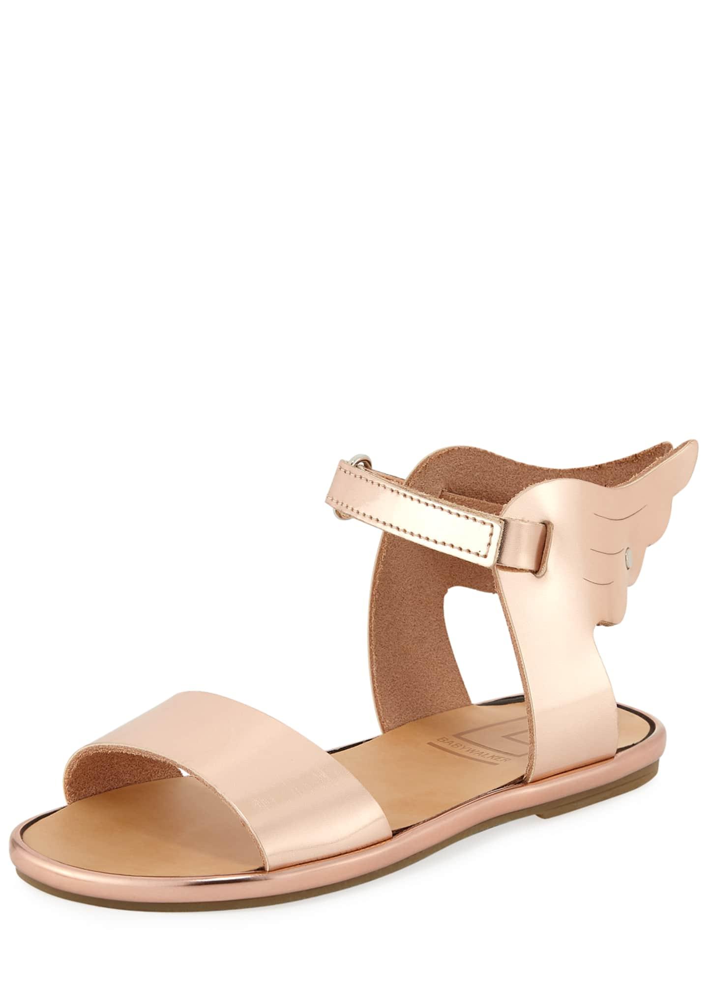 Babywalker Metallic Leather Wing Sandal, Toddler
