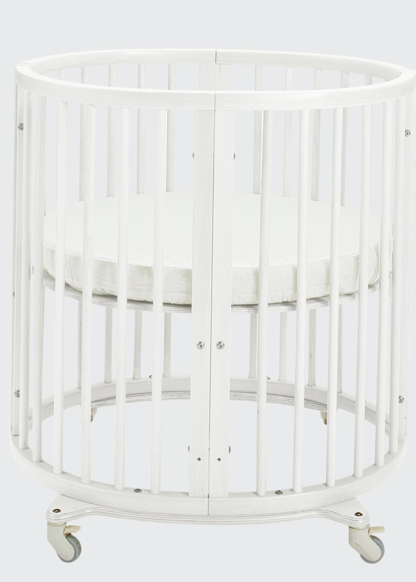 Image 1 of 1: Sleepi Mini Baby Crib Bundle, White