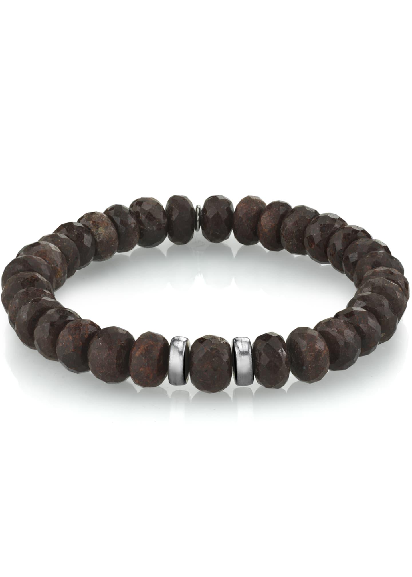 Mr. Lowe Men's Coffee Quartz Bracelet, Size M