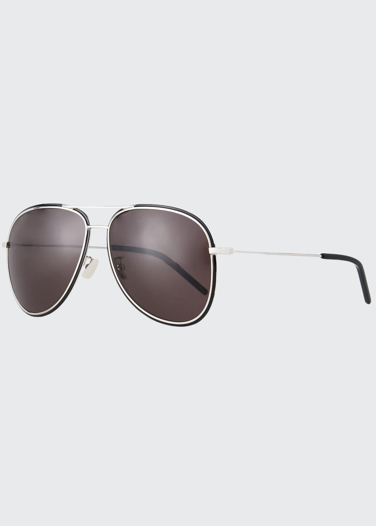 Saint Laurent Men's SL 294F Metal Aviator Sunglasses