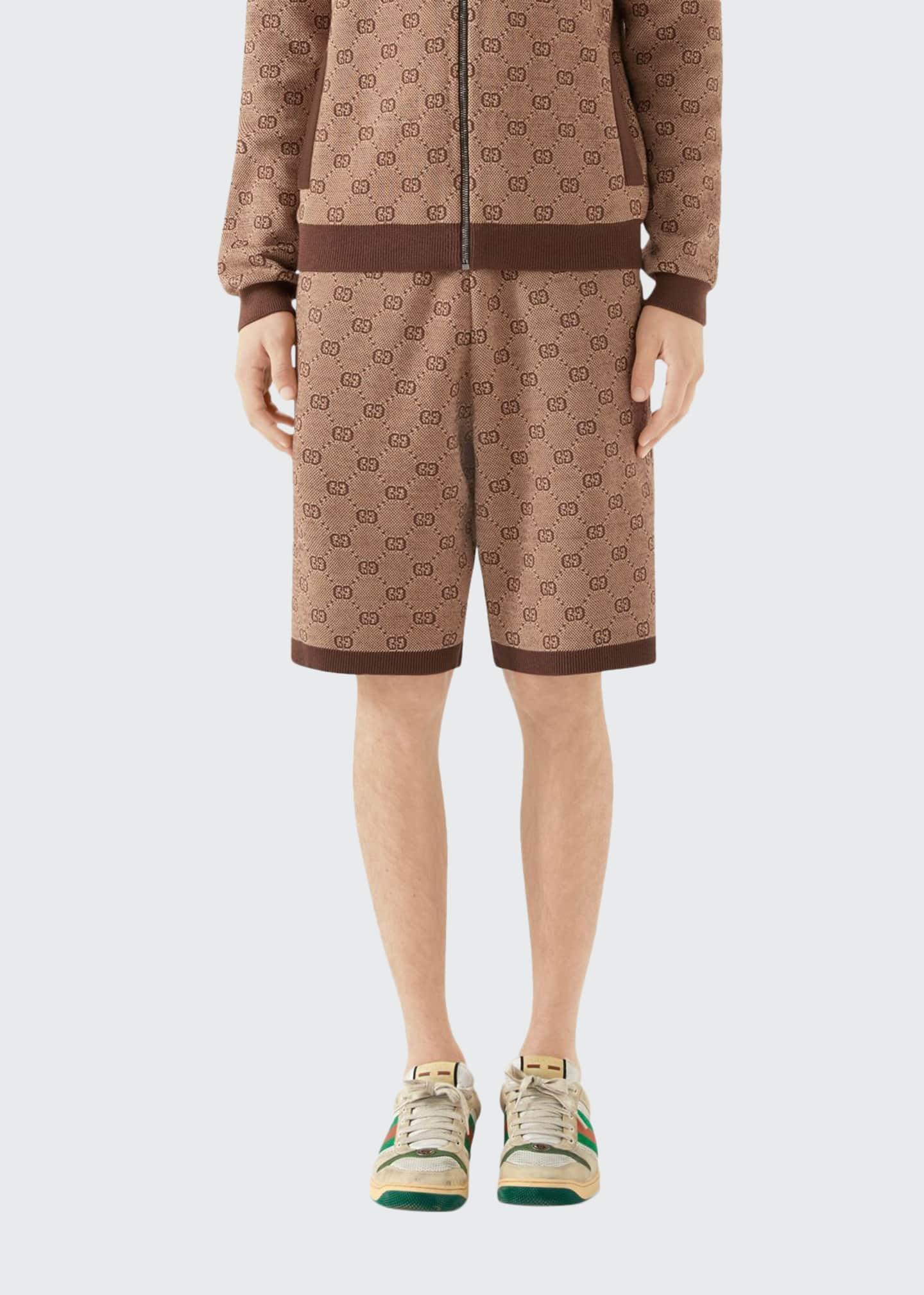Gucci Men's GG Logo Knit Shorts