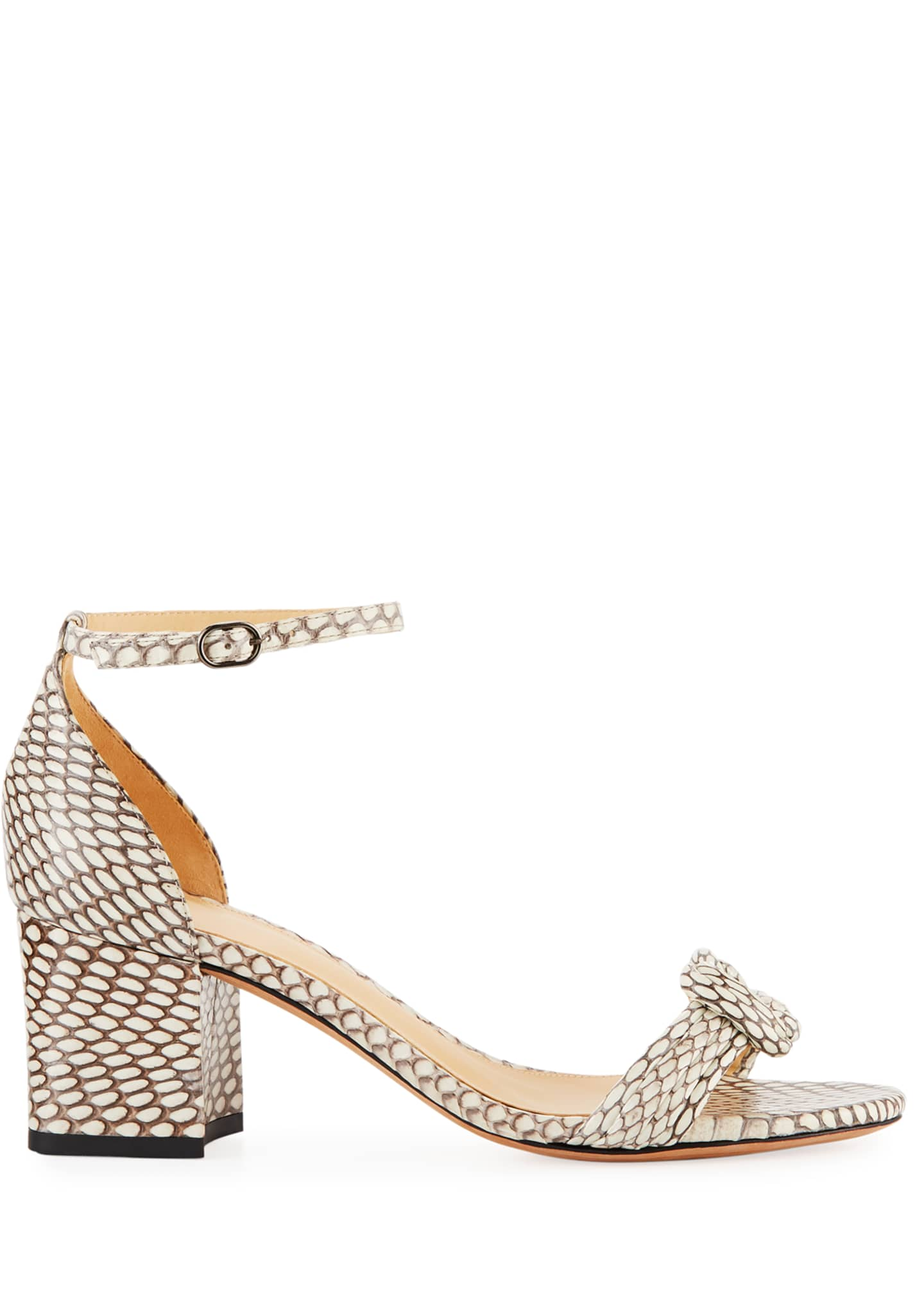 Image 2 of 3: Malica Knot Snakeskin Sandals