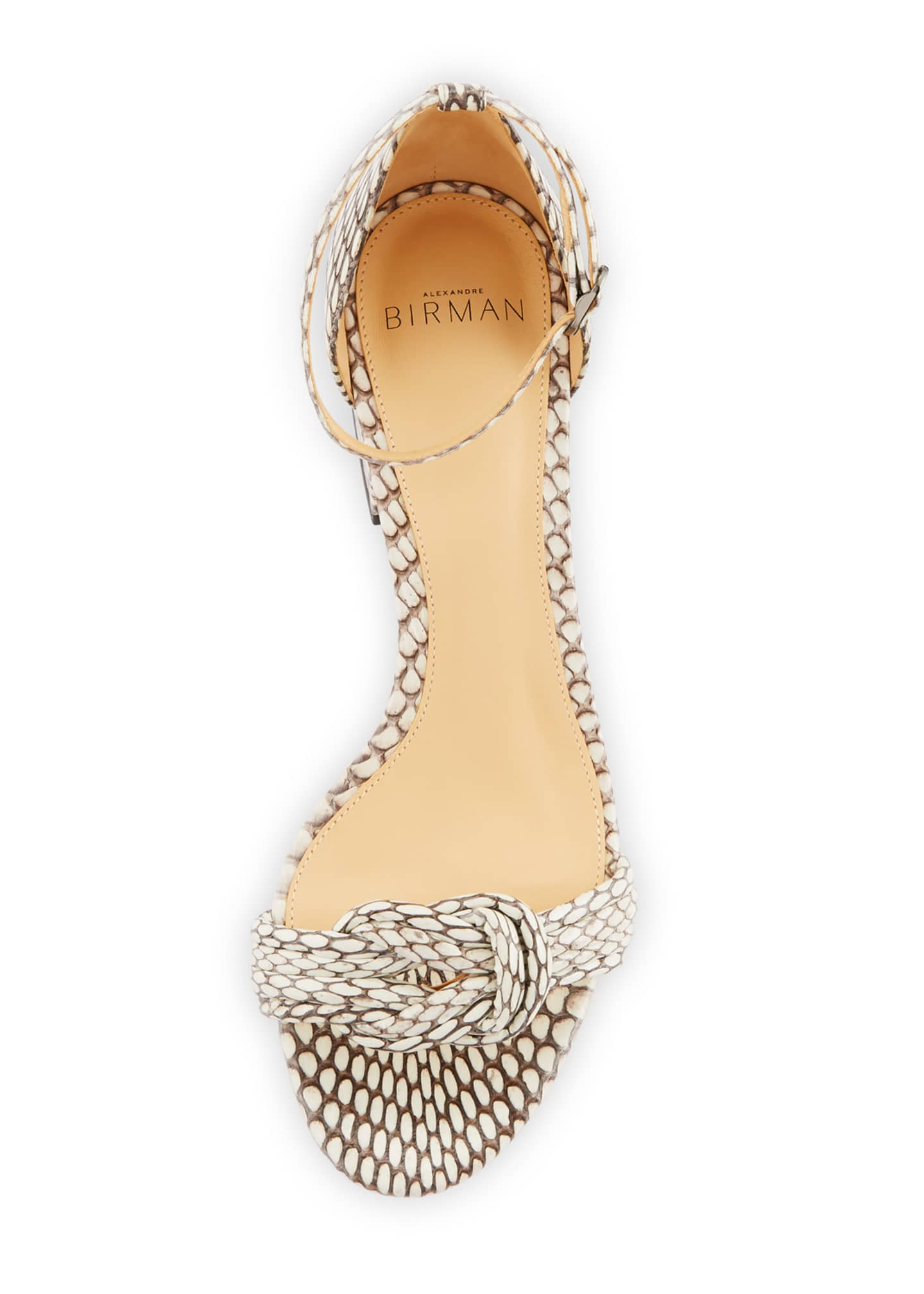 Image 3 of 3: Malica Knot Snakeskin Sandals