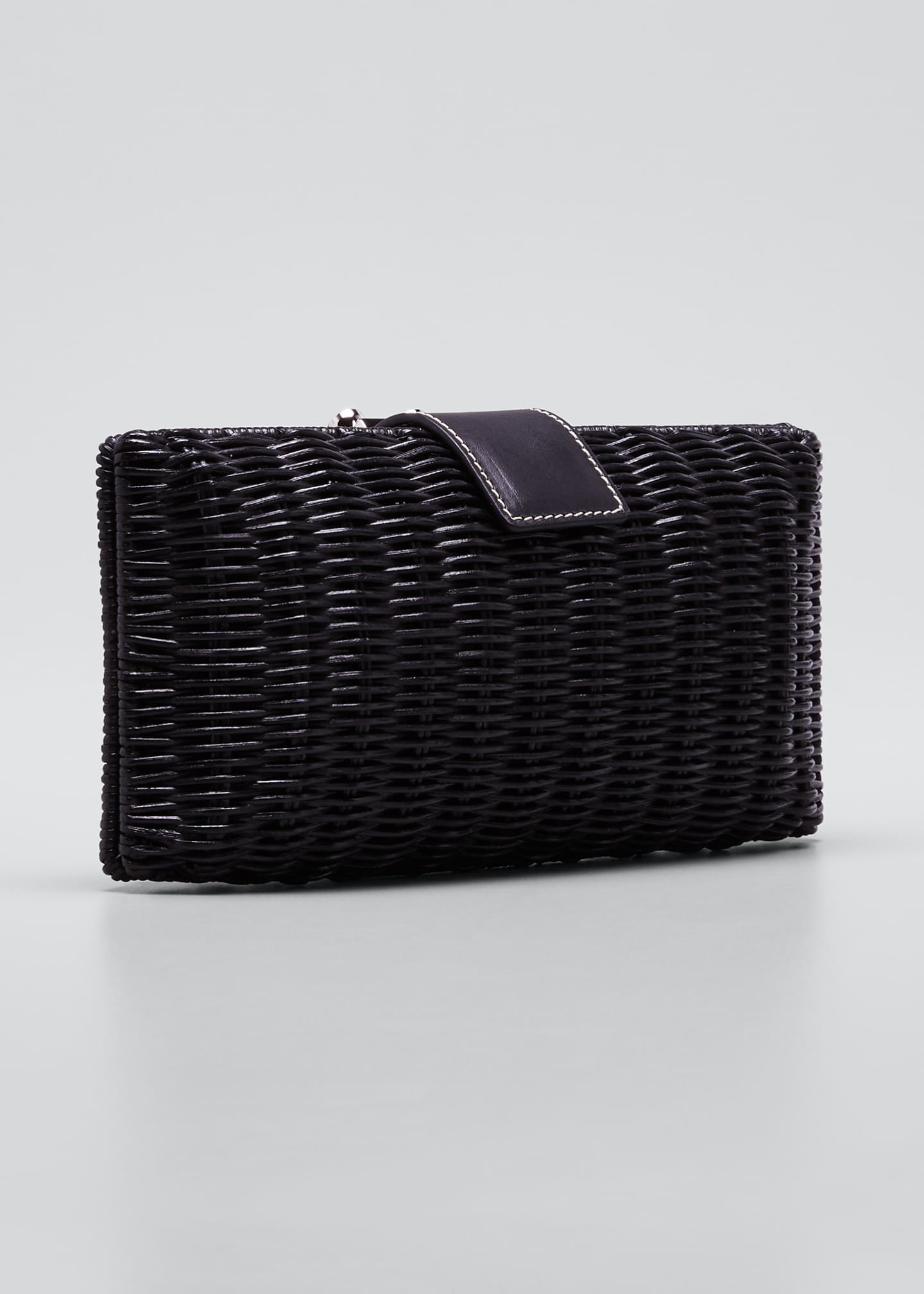 Image 3 of 5: Woven Wicker Clutch Bag