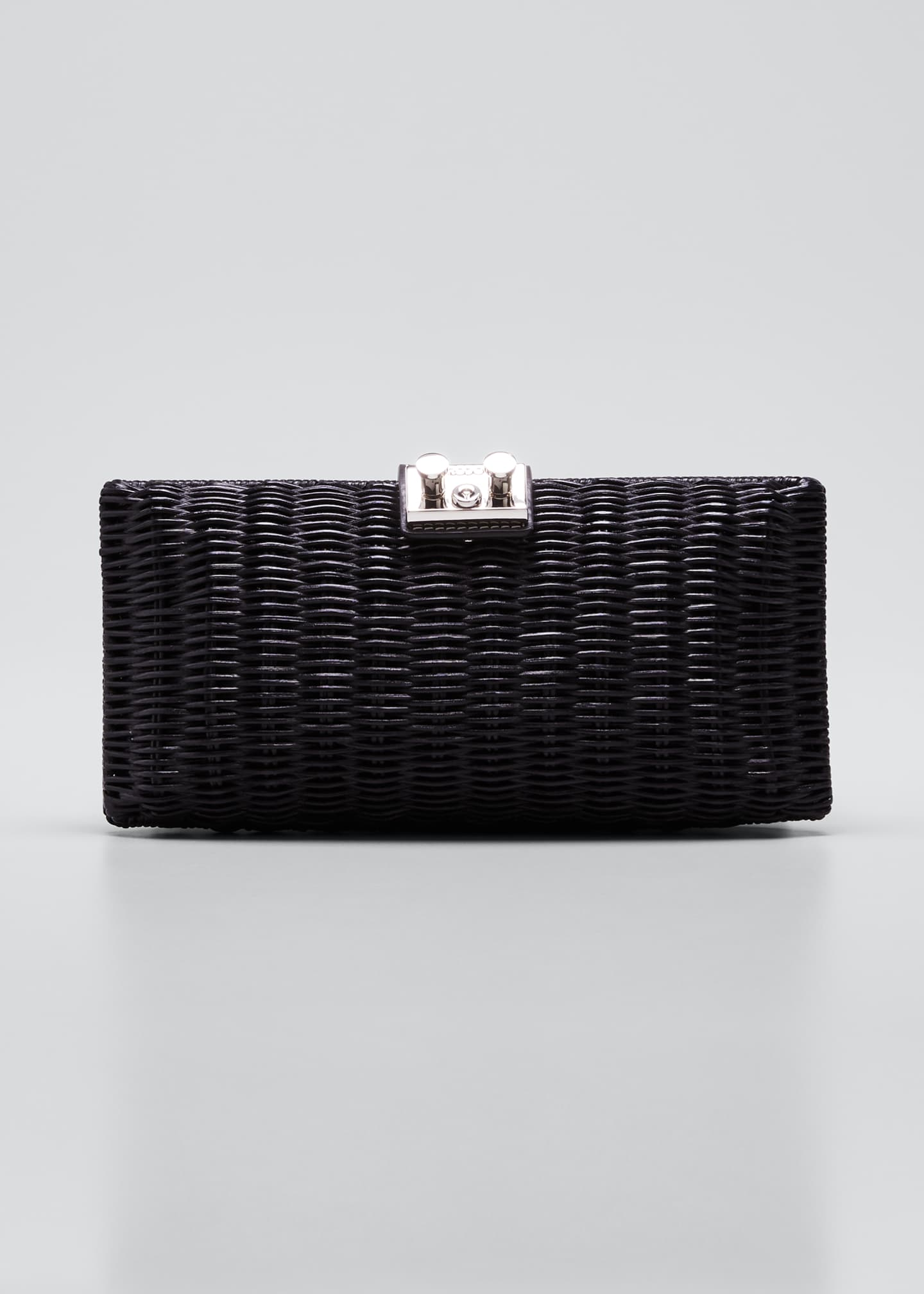 Image 1 of 5: Woven Wicker Clutch Bag