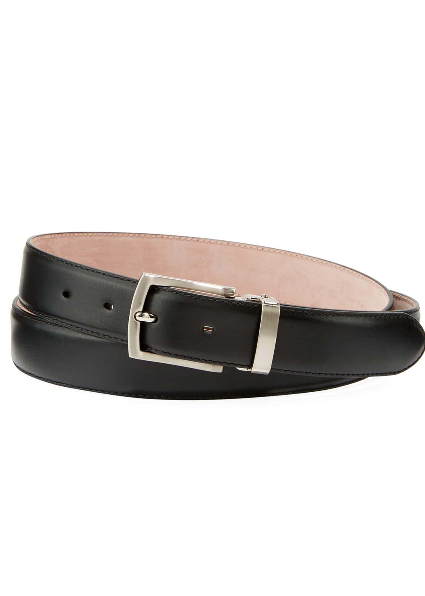 Magnanni for Neiman Marcus Men's Leather Square-Buckle Belt,