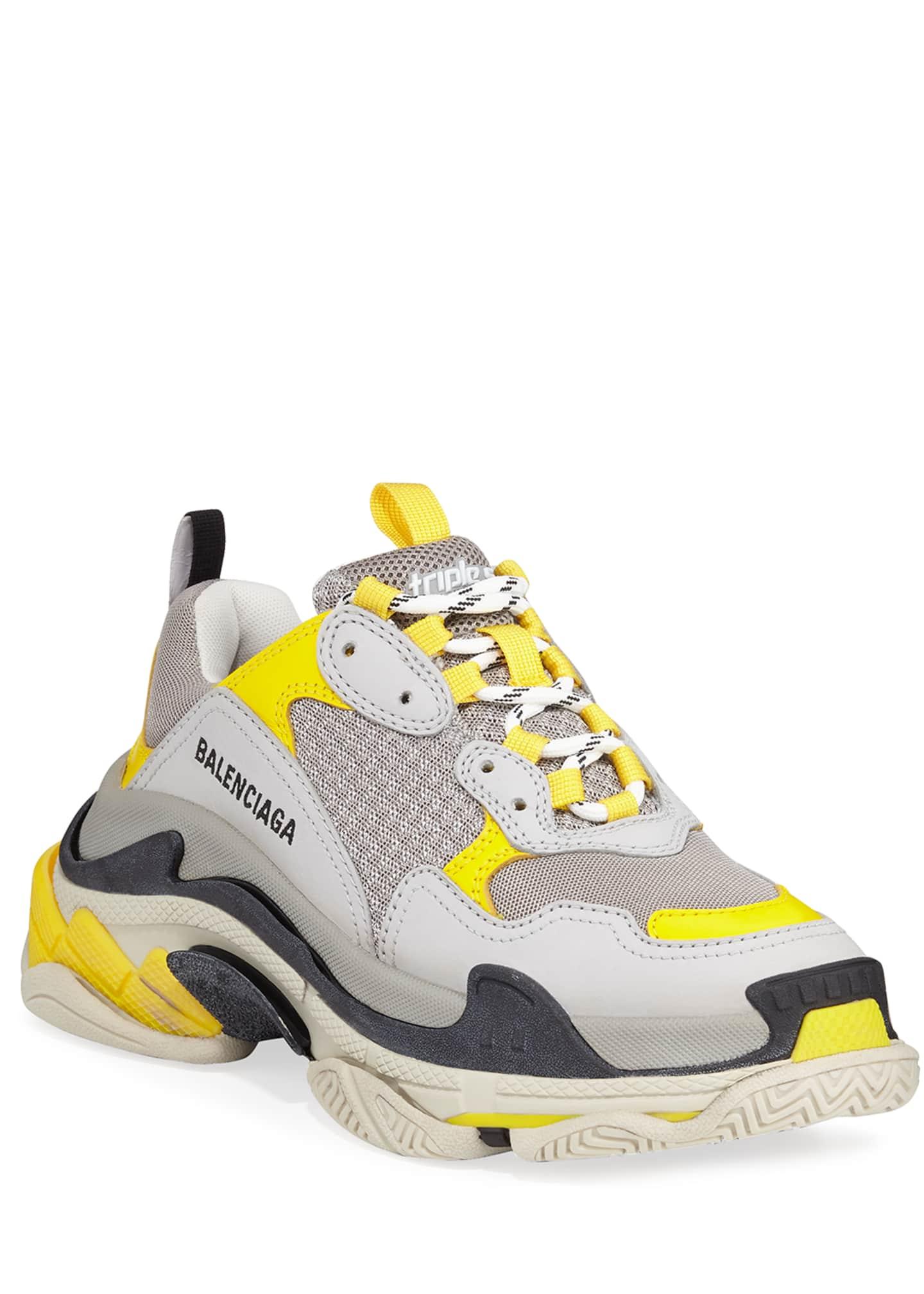 Balenciaga Triple S Fluo Mesh Trainer Sneakers