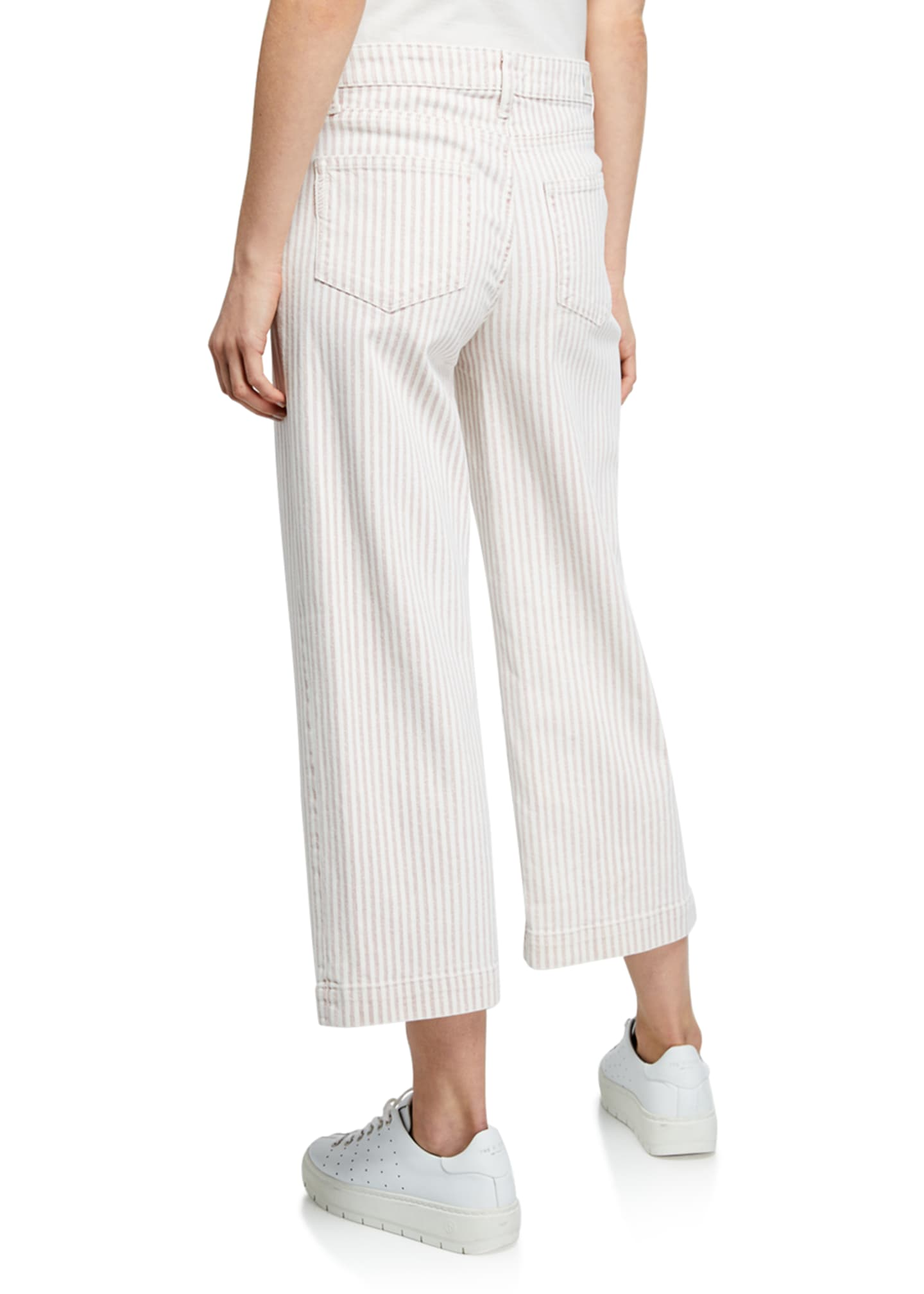 Image 2 of 3: Nellie Striped Cropped Culottes