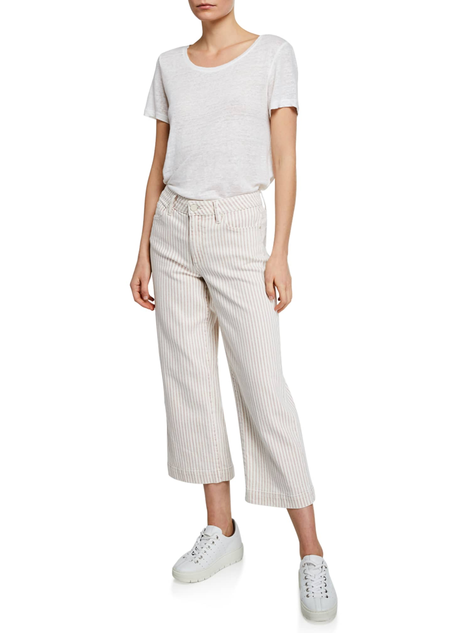 Image 3 of 3: Nellie Striped Cropped Culottes