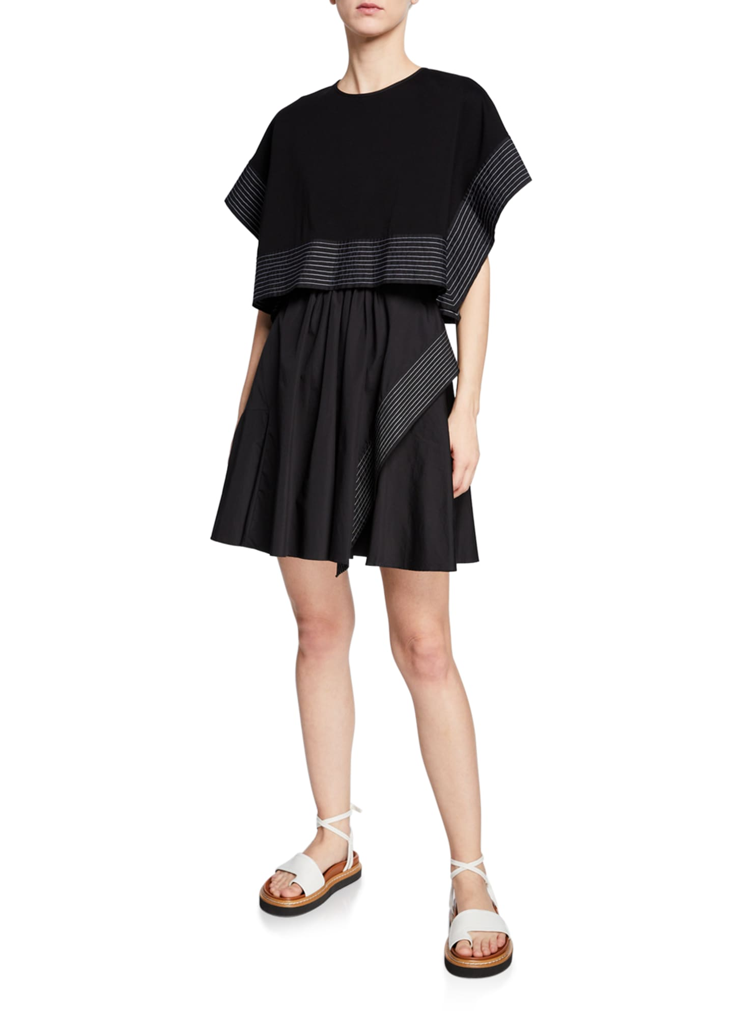 3.1 Phillip Lim Poplin Sleeveless Dress with Boxy