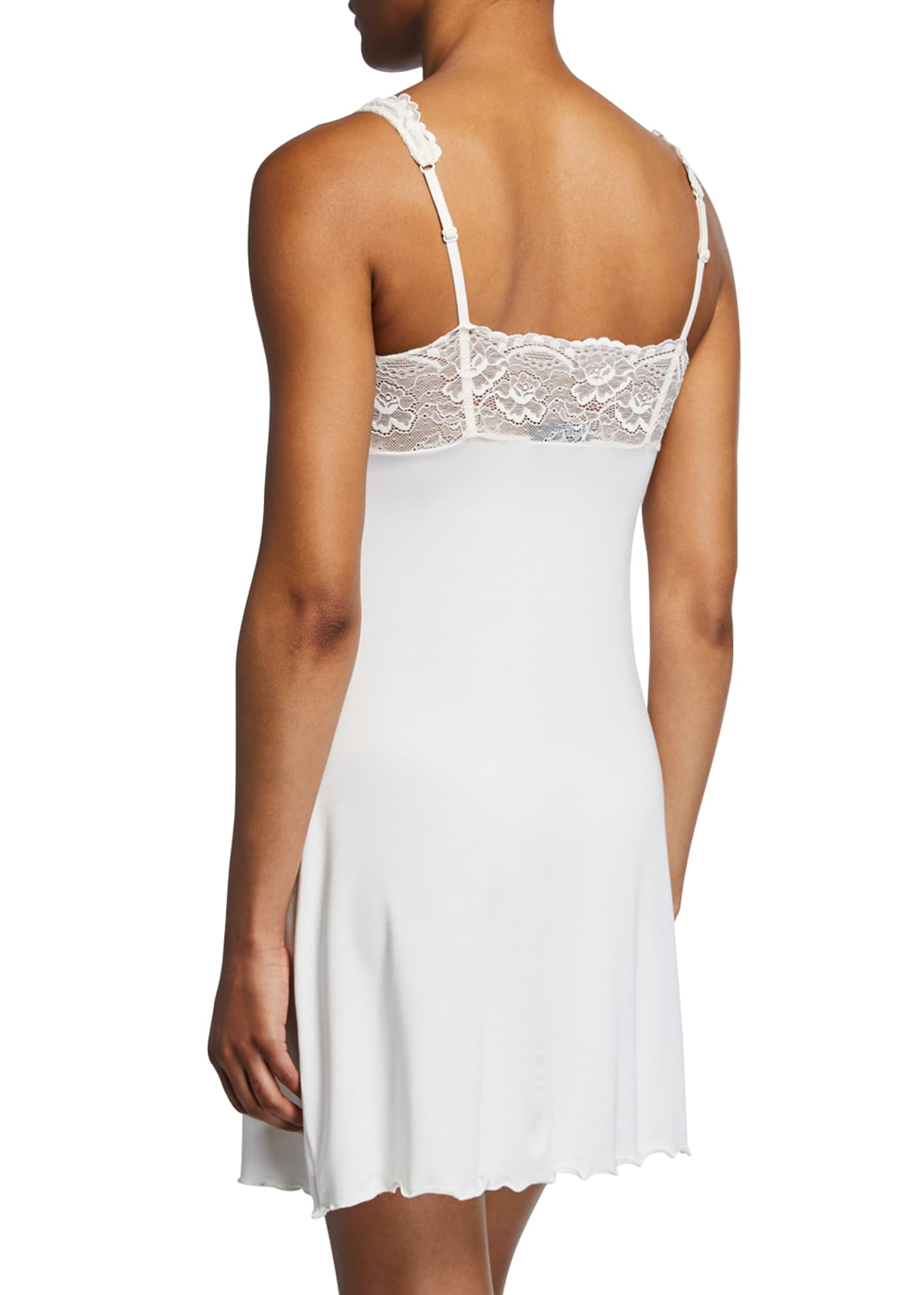 Image 2 of 2: Lace-Trim Jersey Chemise