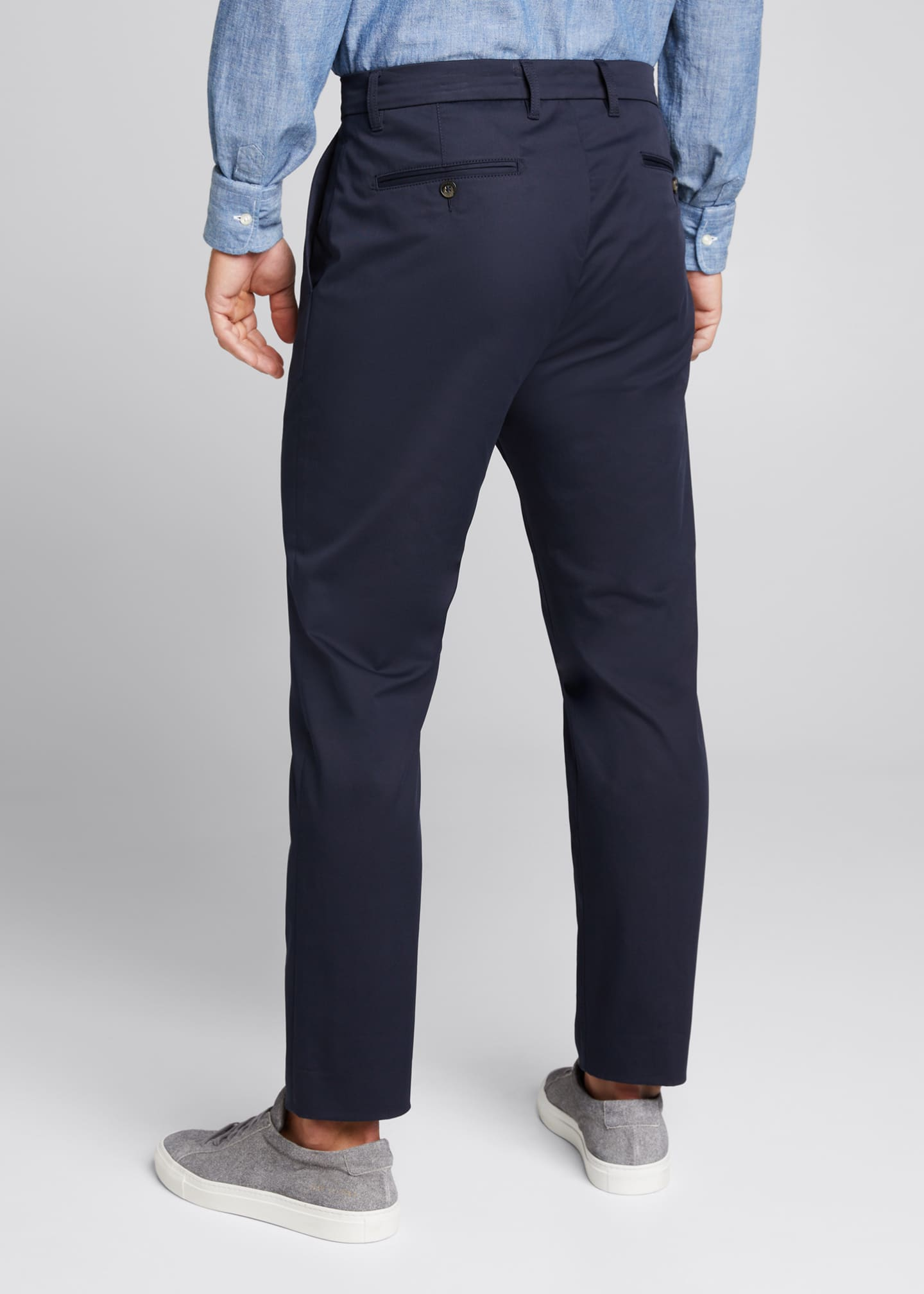 Image 2 of 5: Men's Flat-Front Cropped Trousers
