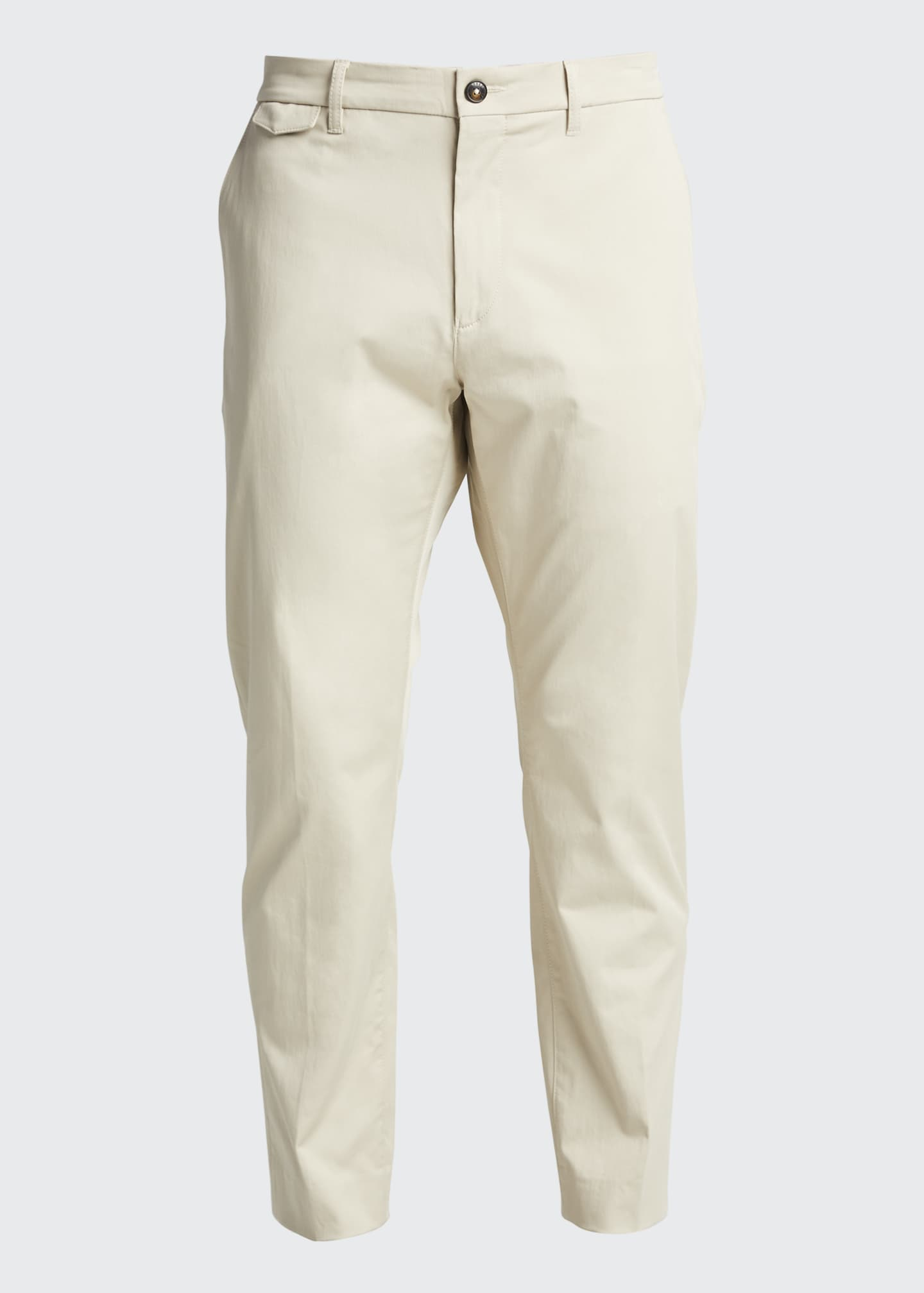 Image 5 of 5: Men's Flat-Front Cropped Trousers
