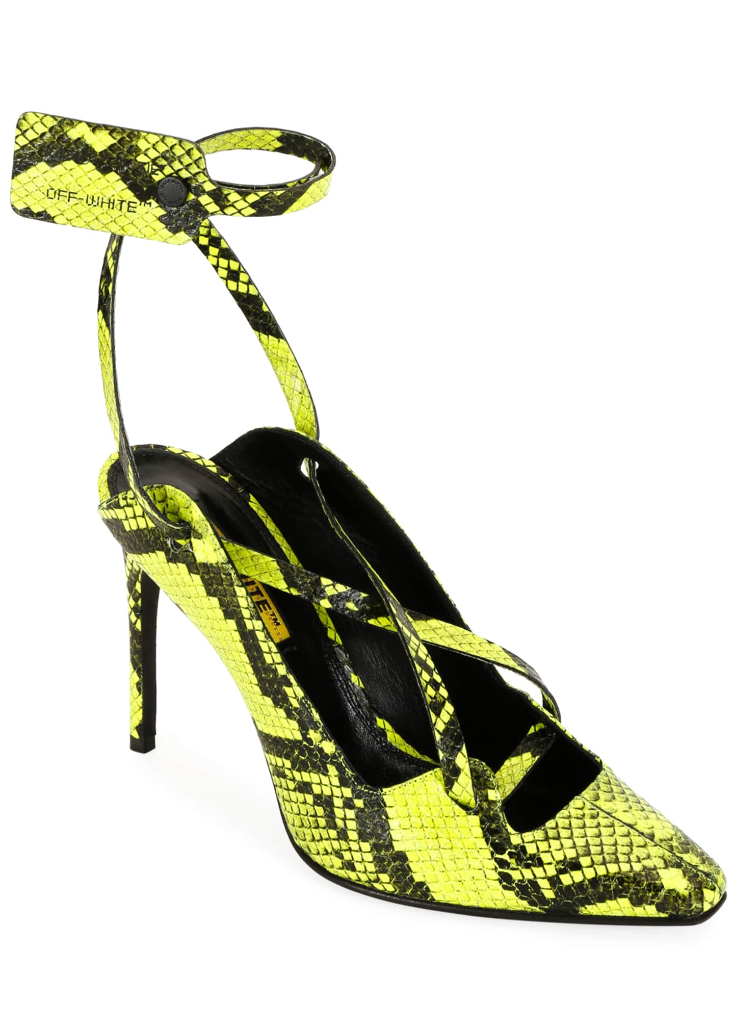 Off-White Warped Snake-Print Pumps