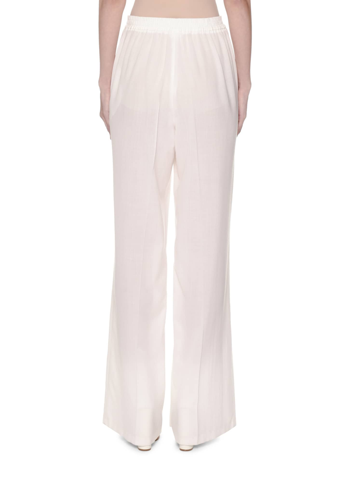 Image 2 of 3: Wide-Leg Layered Voile Pants