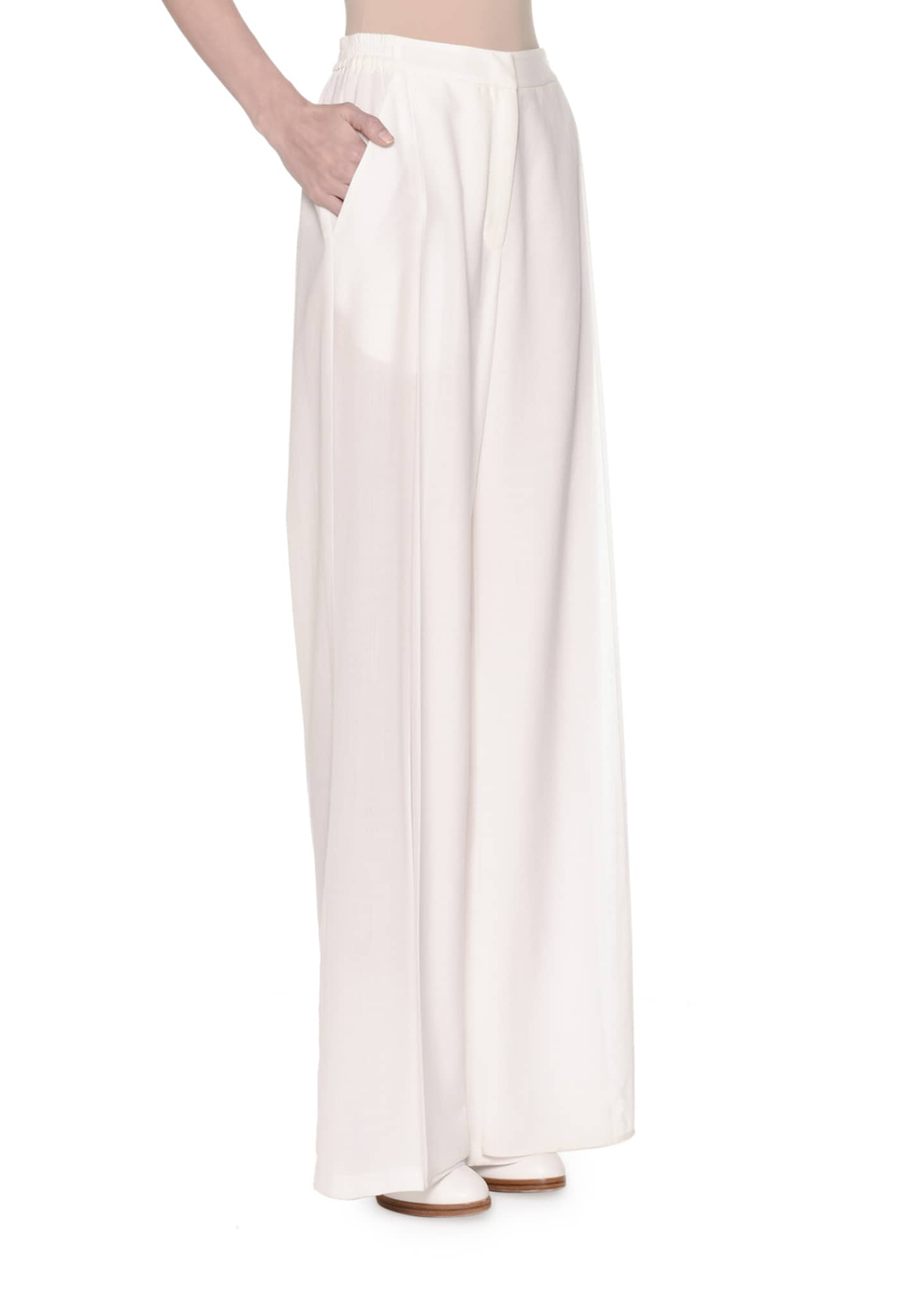 Image 3 of 3: Wide-Leg Layered Voile Pants